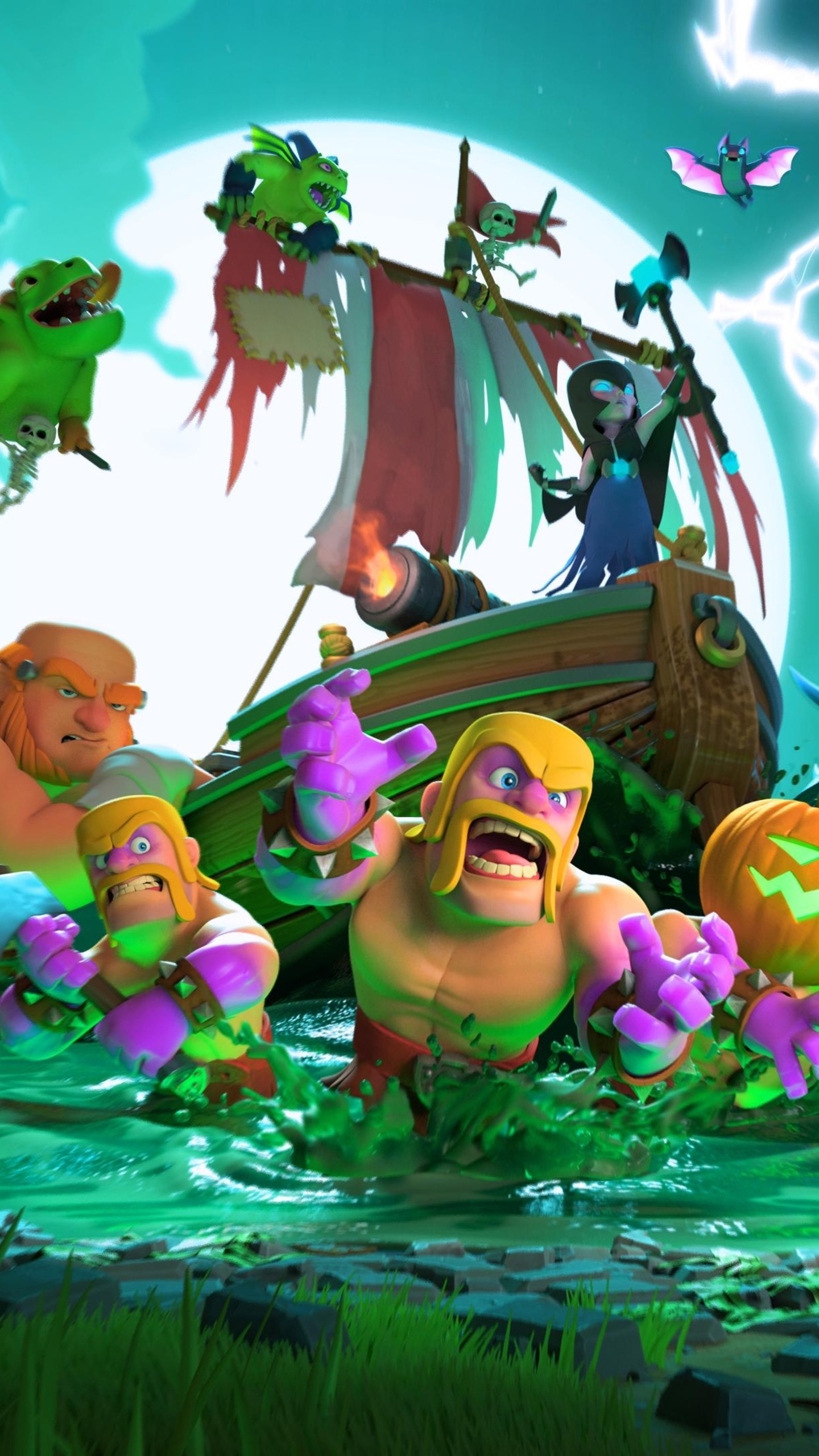 Simple Wallpaper Halloween Galaxy S6 - clash-of-clans-halloween-4k-sh-1440x2560  Perfect Image Reference_208459.jpg