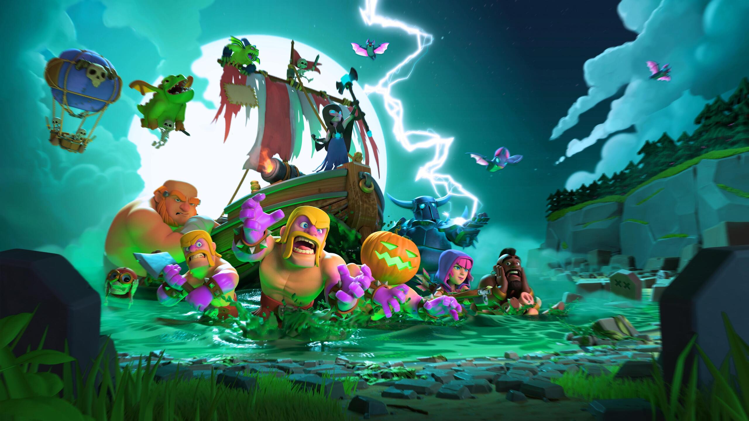 2560x1440 Clash Clans Halloween 4k 1440P Resolution HD 4k
