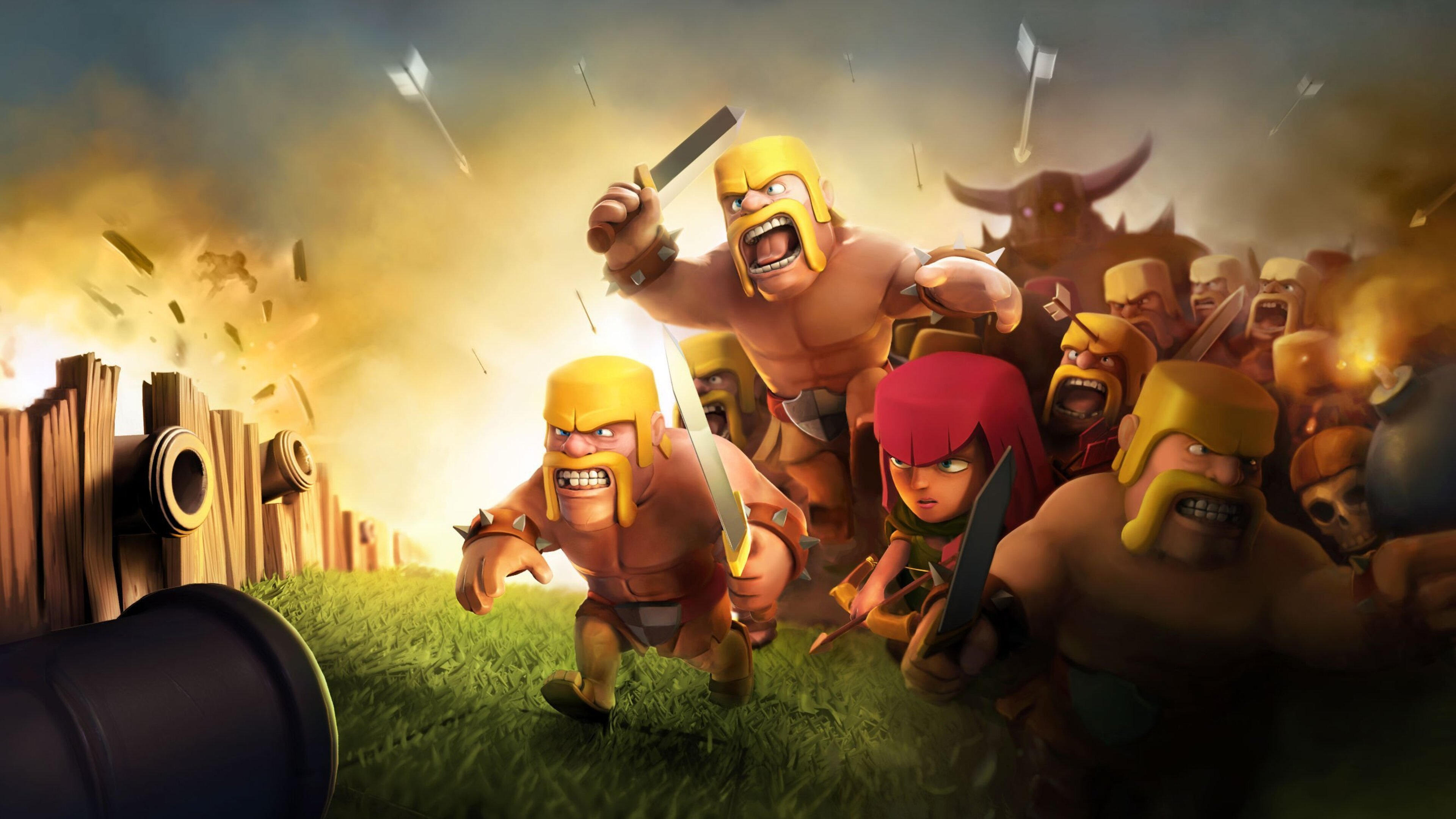 Barbarian Clash Of Clans Hd Hd Games 4k Wallpapers: 3840x2160 Clash Of Clans HD 4k HD 4k Wallpapers, Images