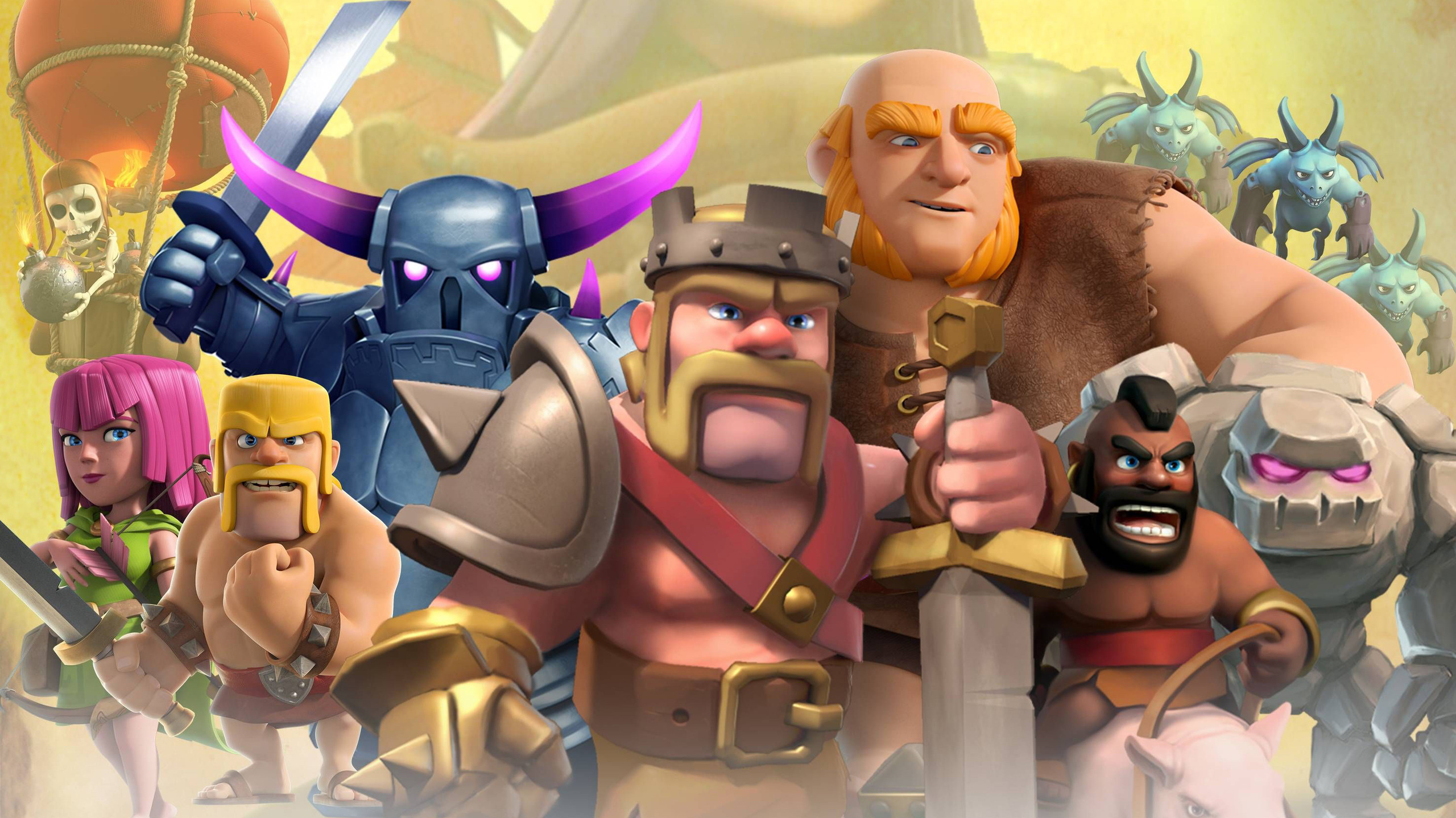 2560x1440 Clash Clans Mobile Game 1440P Resolution HD 4k