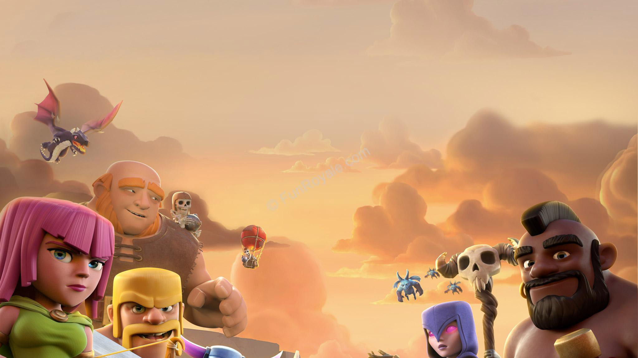 Clash Of Clans All Troops Wallpaper
