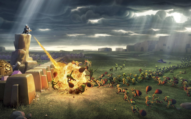 2880x1800 Clash Of Clans Wiz Attacking Goblins Macbook Pro Retina