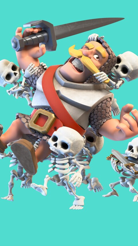 480x854 clash royale knight and skelton android one hd 4k wallpapers images backgrounds - Clash royale 2560x1440 ...