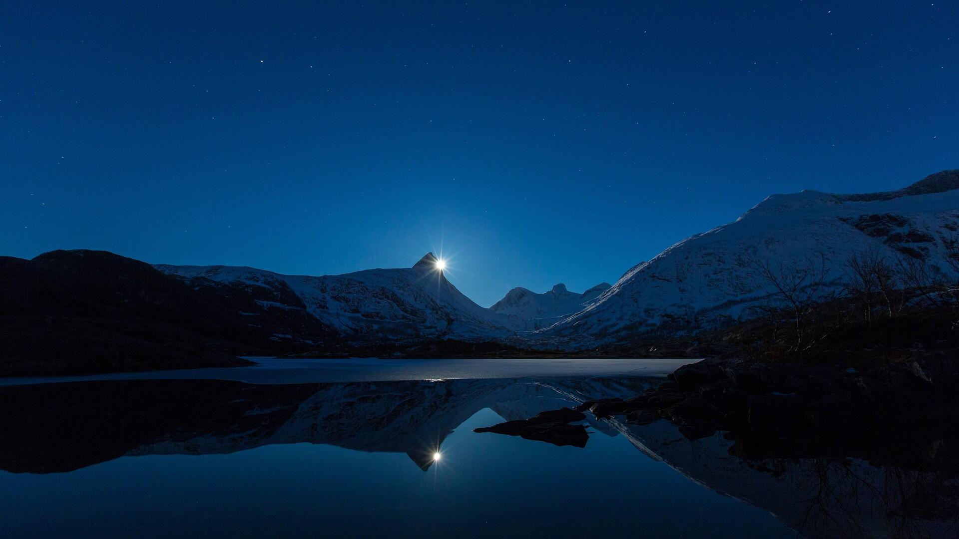 1920x1080 Clear Sky Night Landscape 4k Laptop Full HD ...