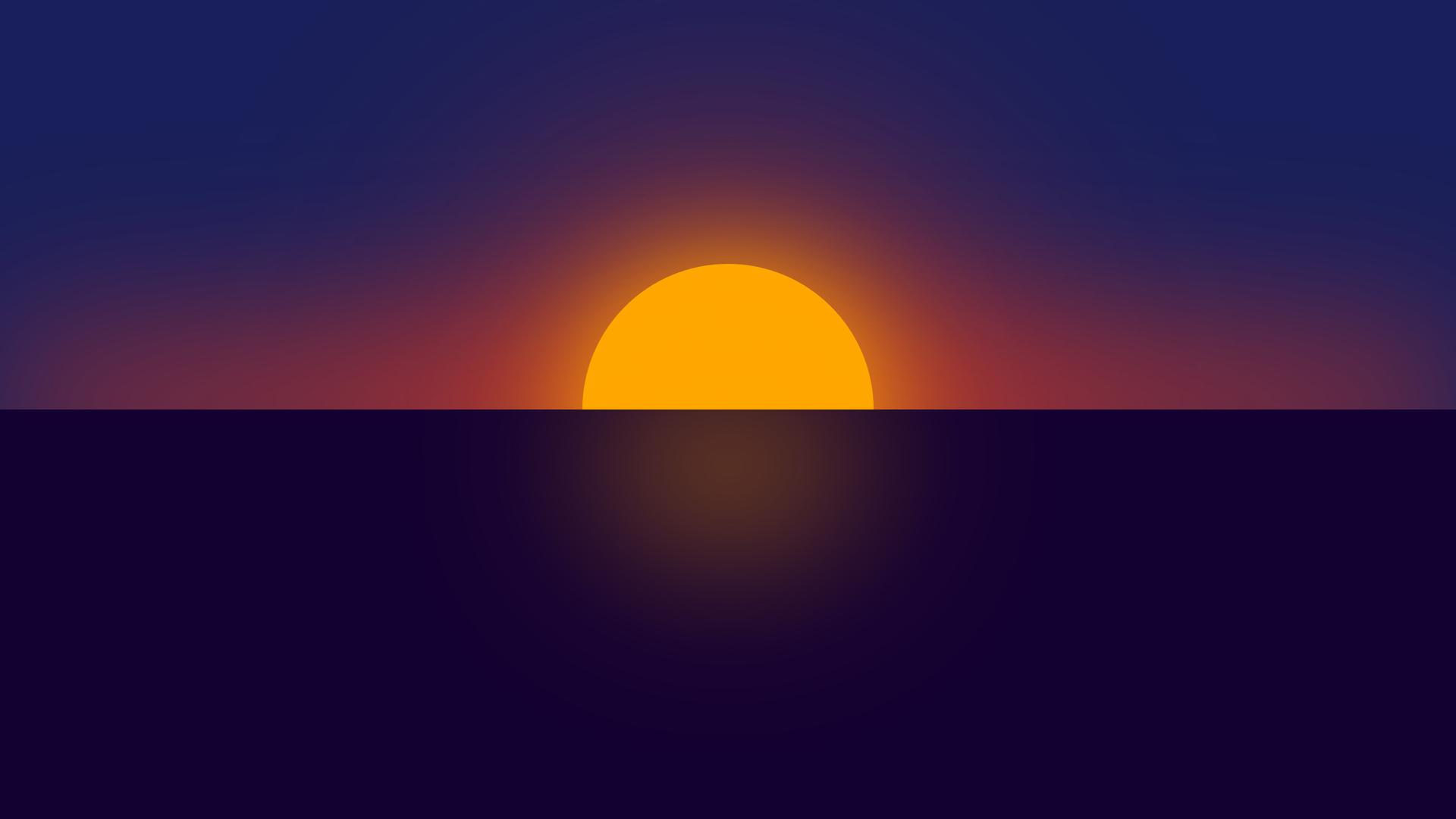 1920x1080 Clear Sunset Minimal 4k Laptop Full HD 1080P HD ...