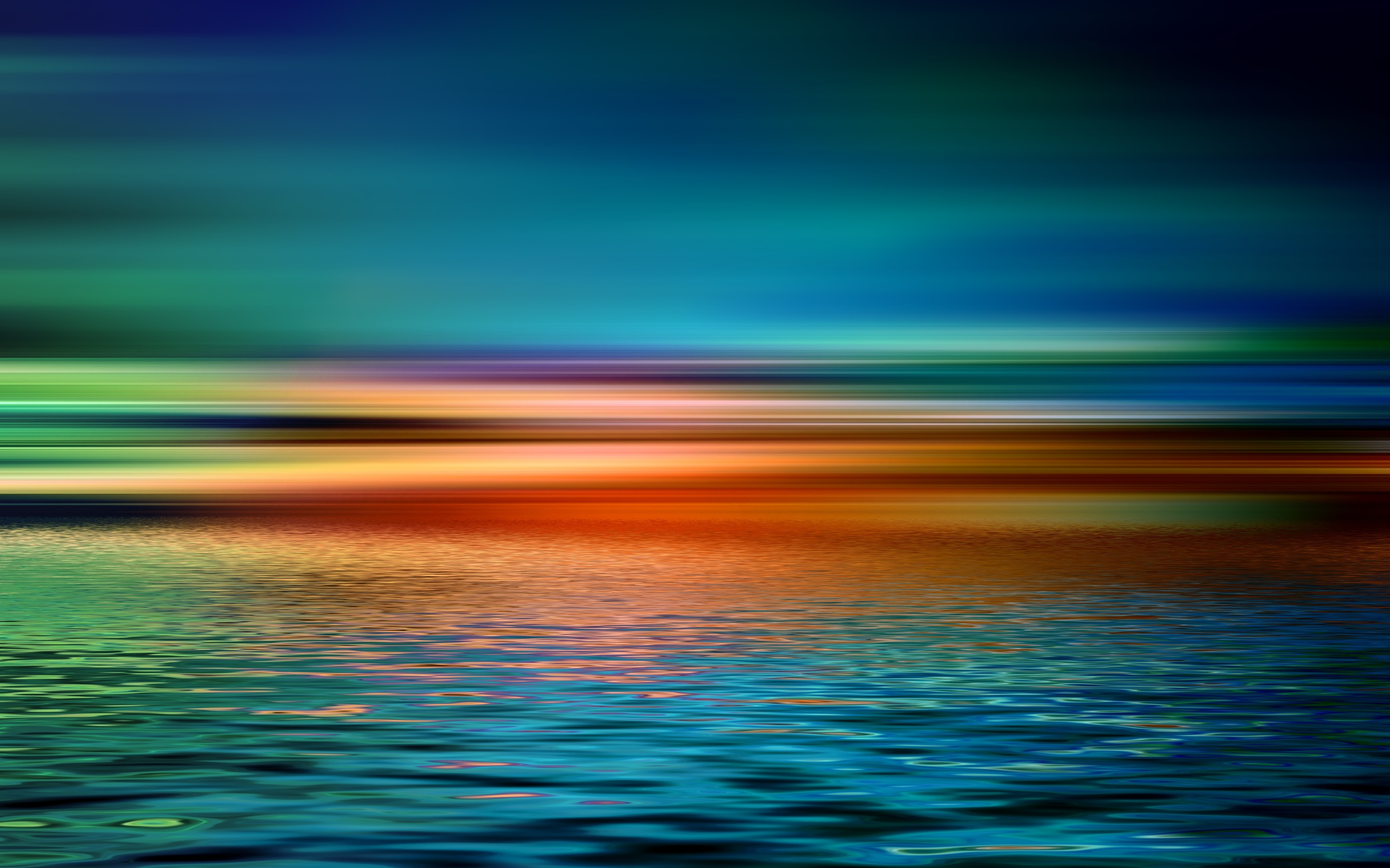 2880x1800 Colorful Artistic Sunset Over Water Macbook Pro