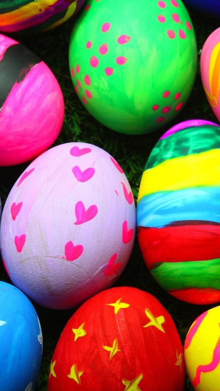 750x1334 Colorful Easter Eggs Iphone 6 Iphone 6s Iphone 7 Hd 4k
