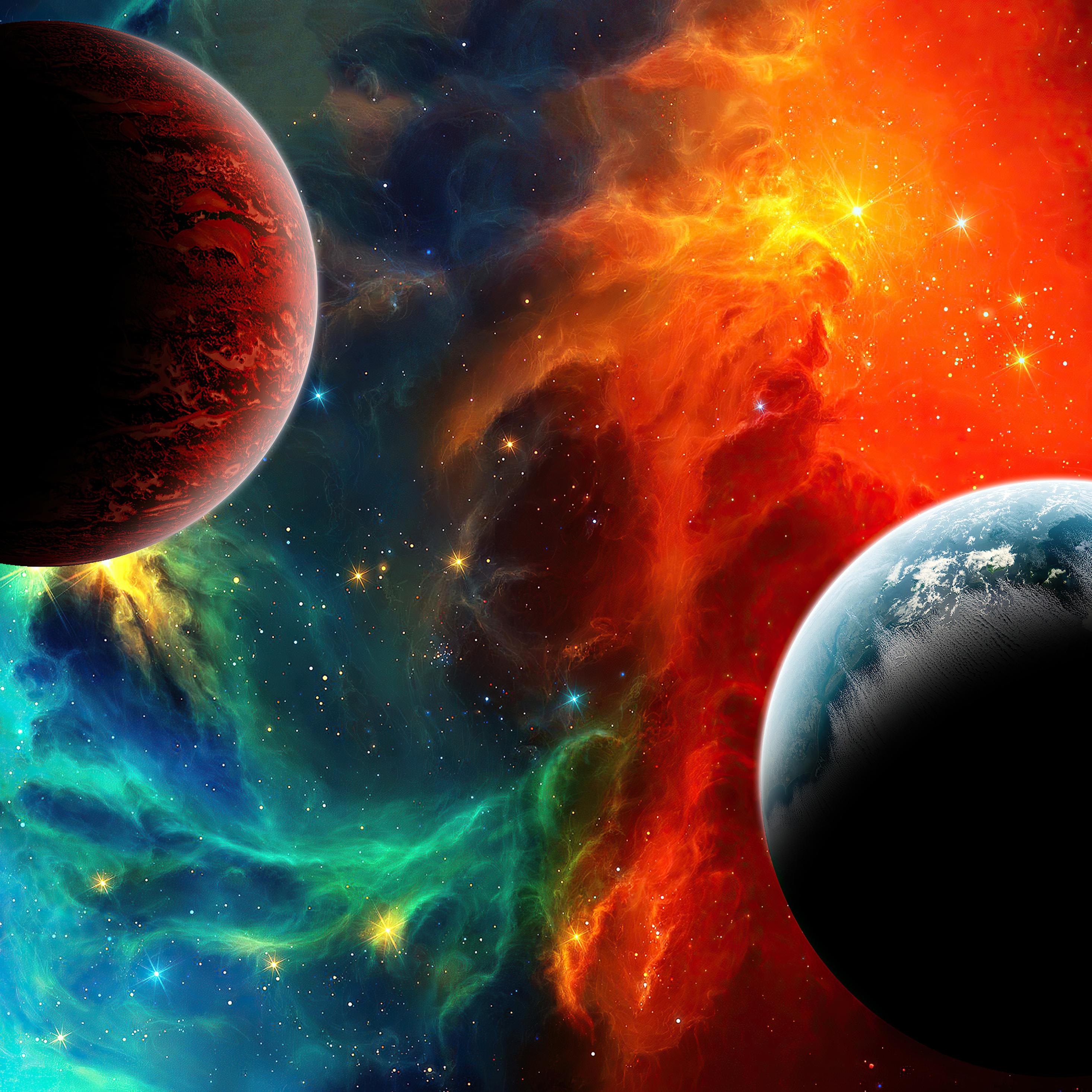 2932x2932 Colorful Nebula Space 4k Ipad Pro Retina Display ...