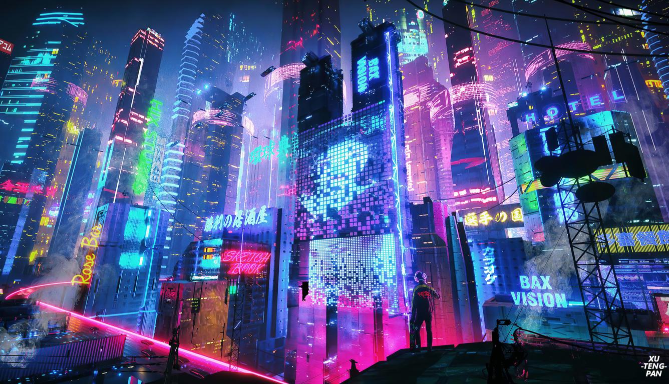 1336x768 Colorful Neon City 4k Laptop HD HD 4k Wallpapers ...