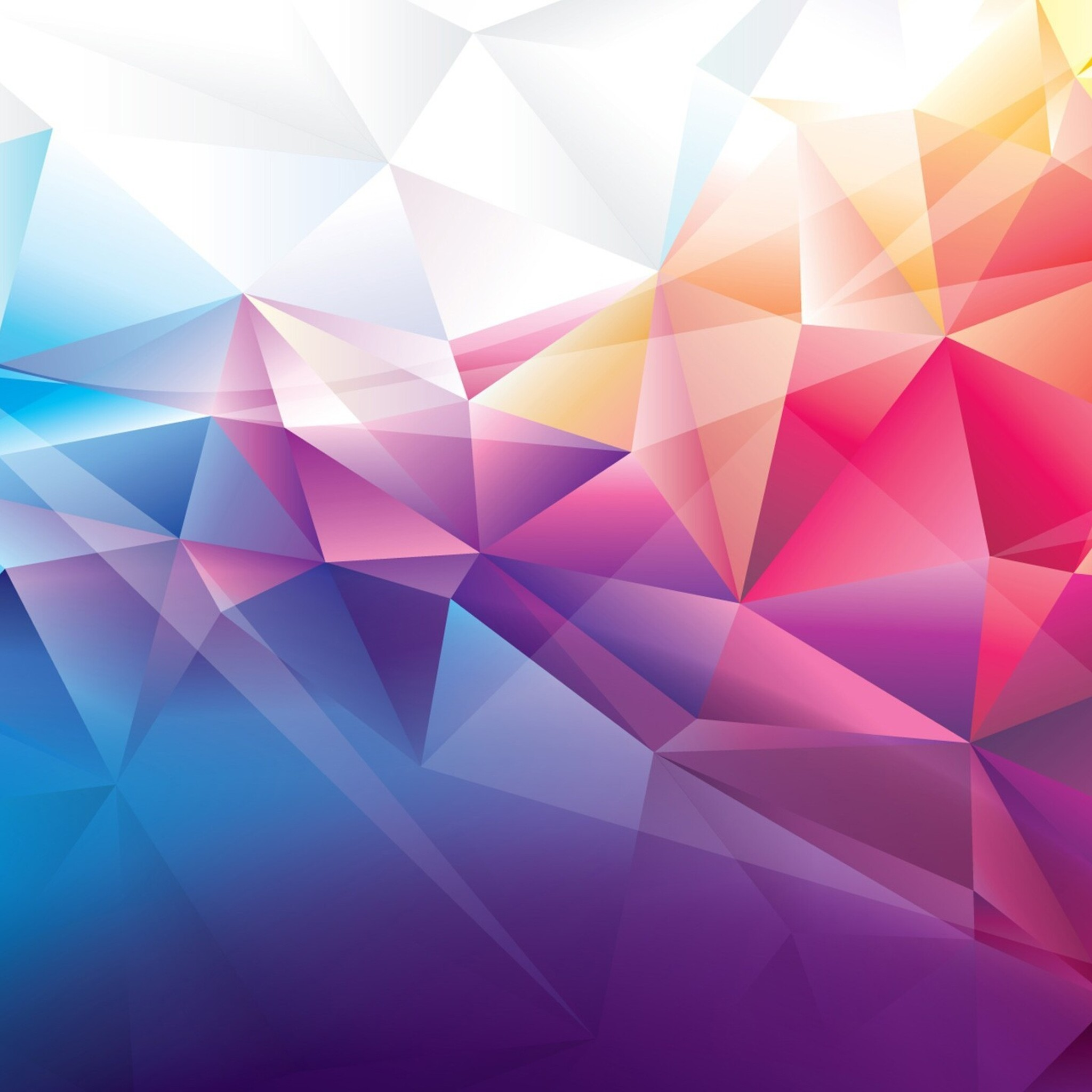 2048x2048 colorful polygons ipad air hd 4k wallpapers, images