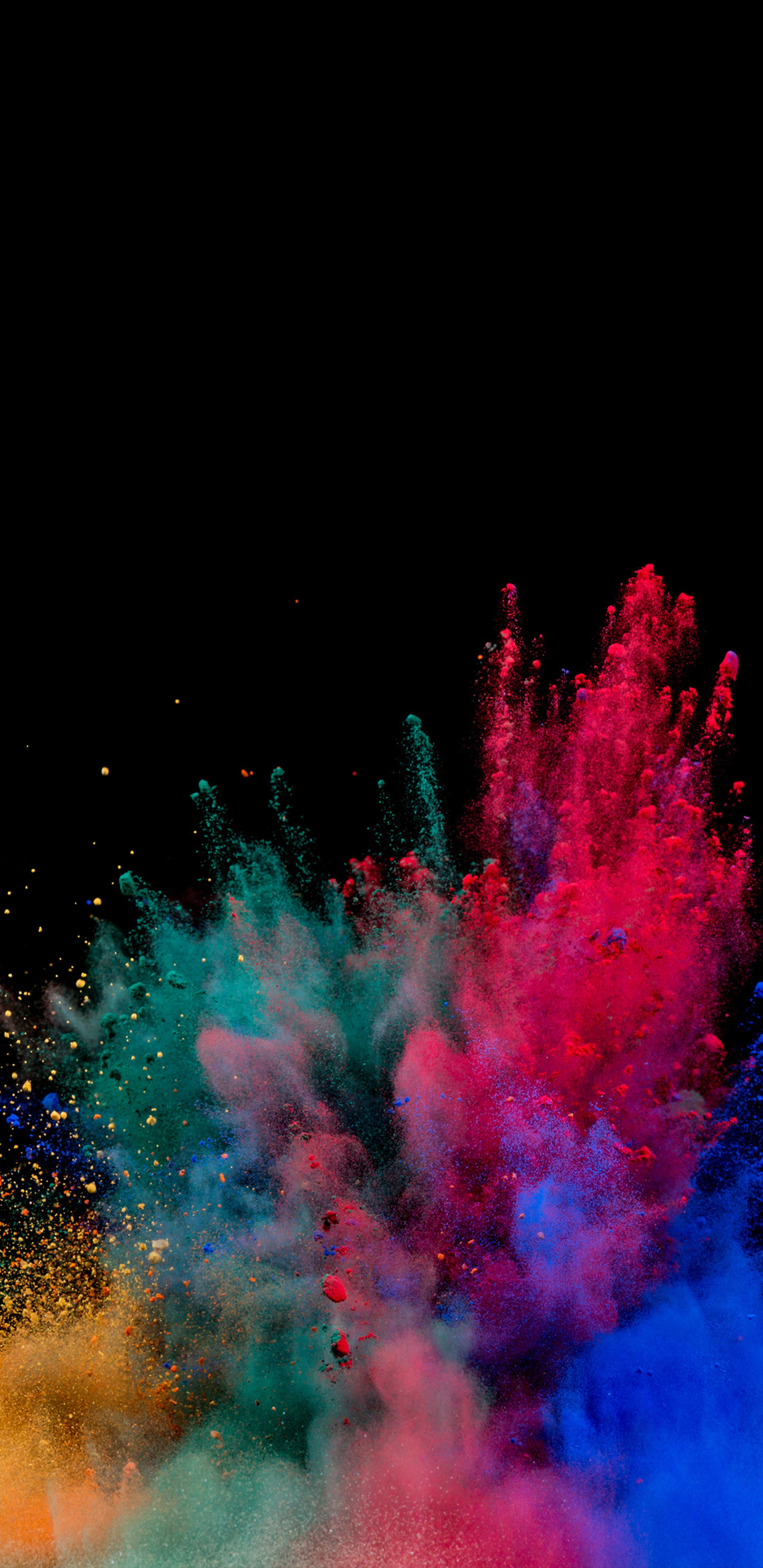1440x2960 Colorful Powder Explosion Samsung Galaxy Note 9 8 S9 S8