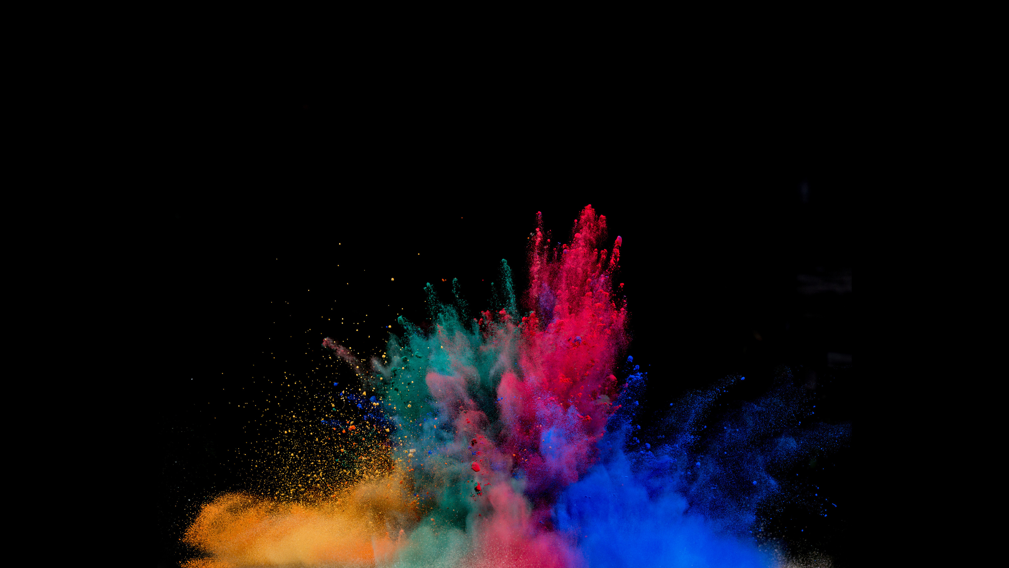 3840x2160 Colorful Powder Explosion 4k Hd 4k Wallpapers