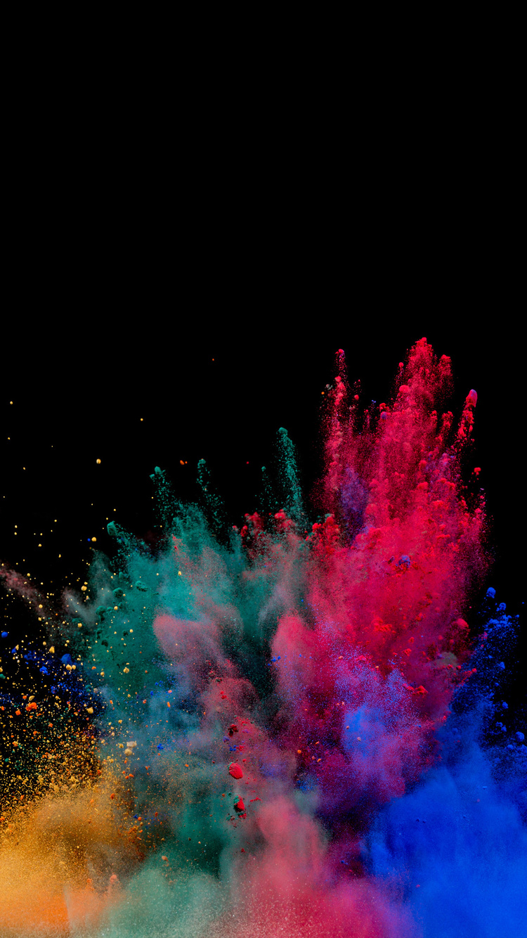 5cc6d825b7f 750x1334 Colorful Powder Explosion iPhone 6, iPhone 6S, iPhone 7 HD ...