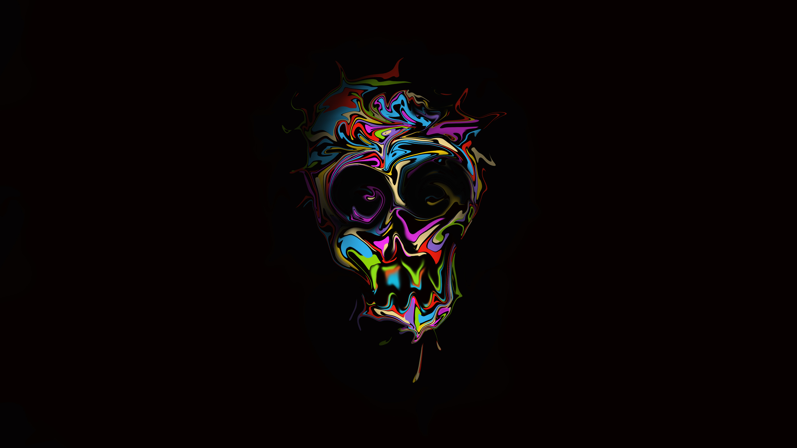 2560x1440 Colorful Skull Dark Art 4k 1440p Resolution Hd 4k Wallpapers Images Backgrounds Photos And Pictures