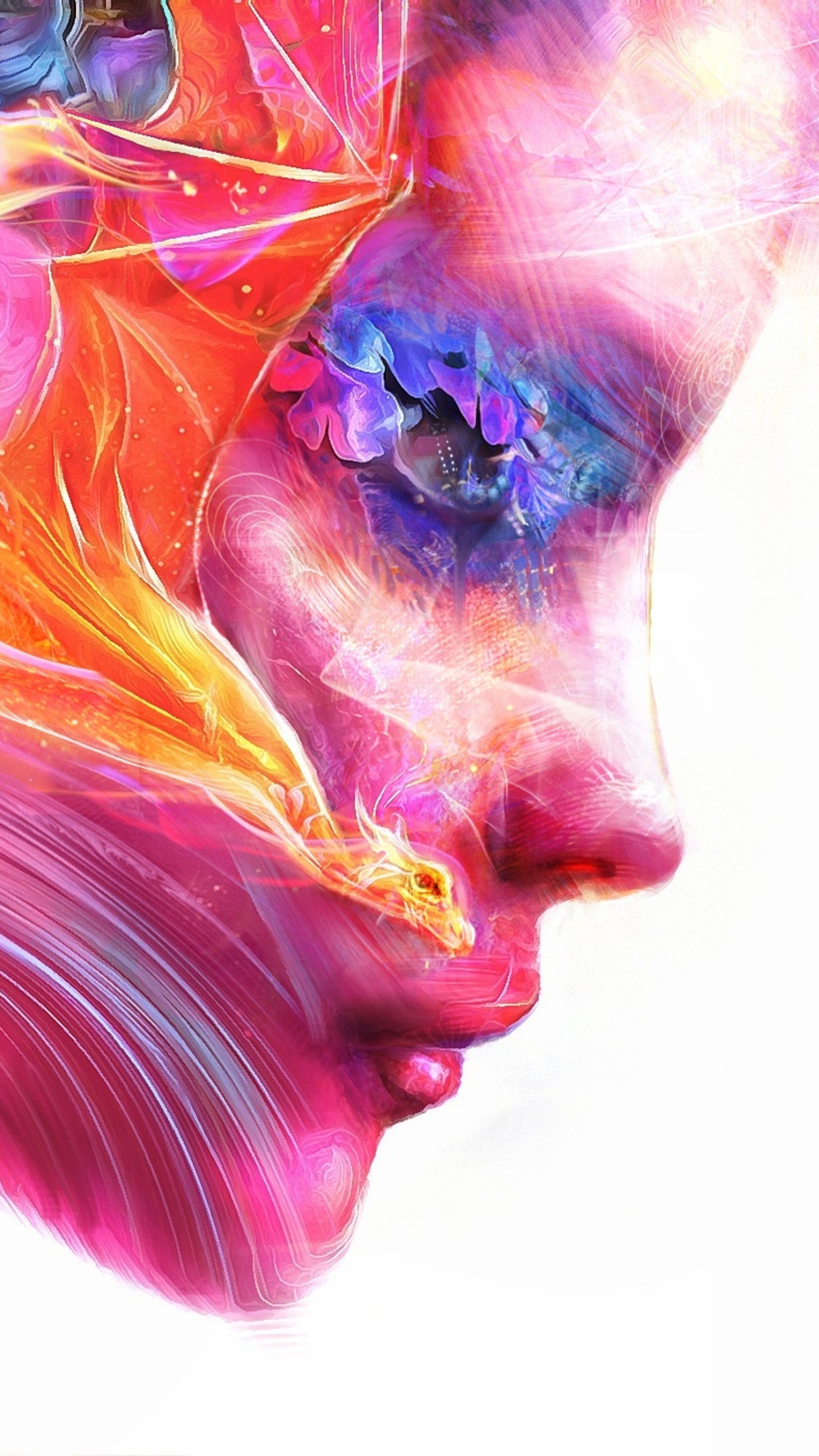 2160x3840 colorful women face artwork sony xperia x xz z5 - Art wallpaper 2160x3840 ...