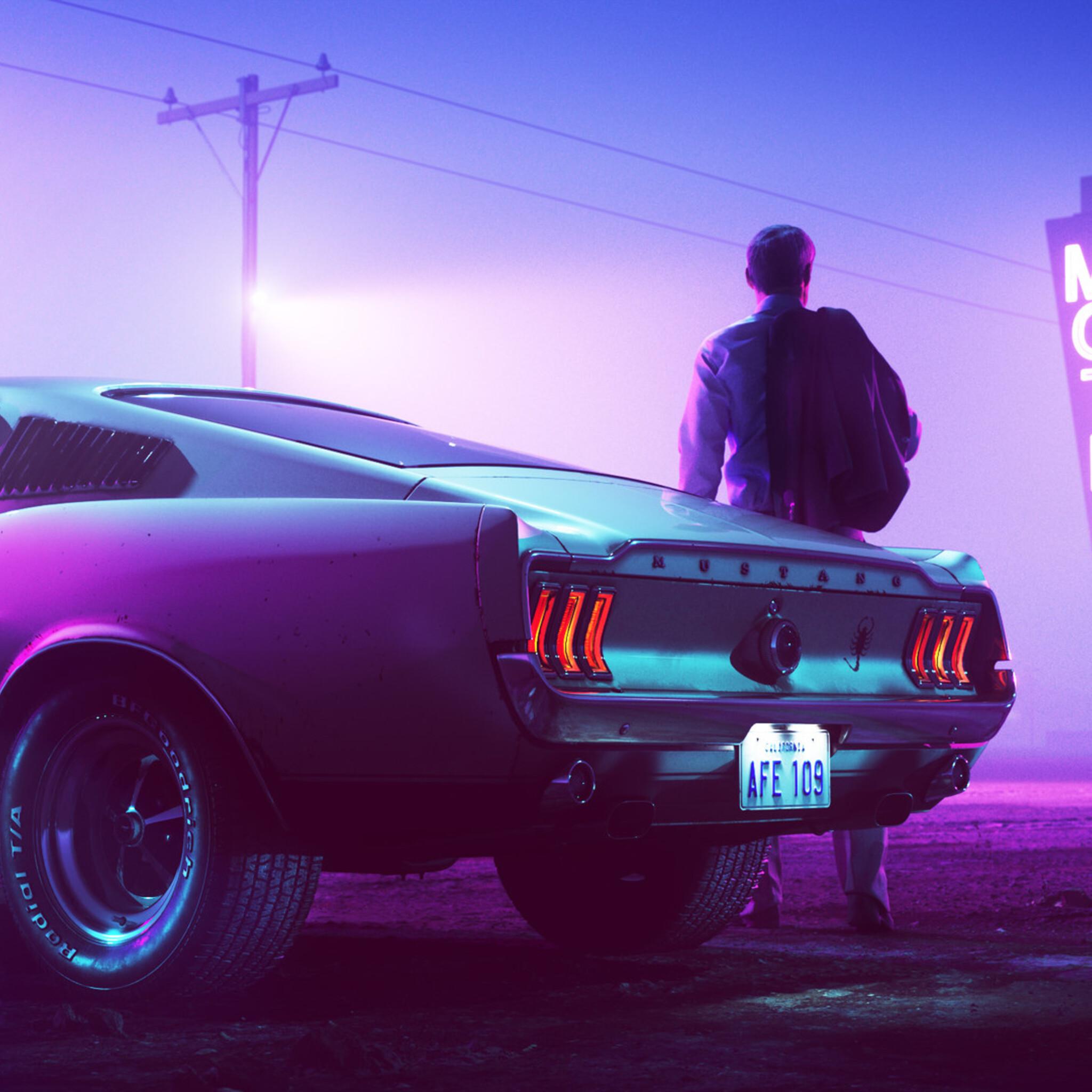 Car Hd Wallpapers 2560x1080: 2048x2048 Colorsponge Carlos Mustang Ipad Air HD 4k