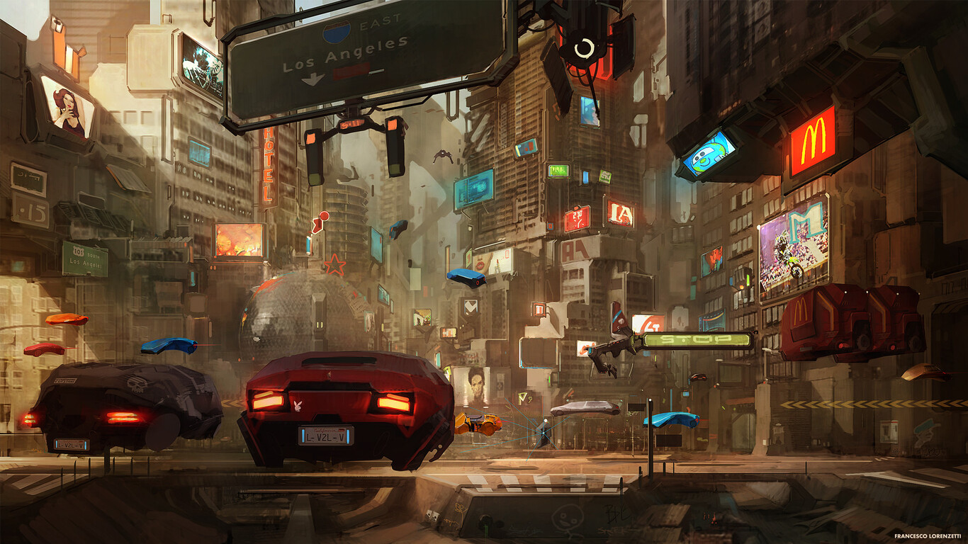 1366x768 Concept Art Cyberpunk 2077 1366x768 Resolution HD ...