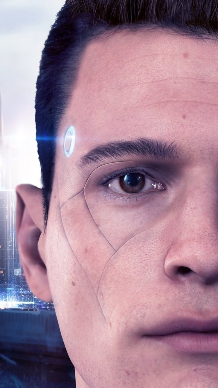 750x1334 Connor Detroit Become Human Iphone 6 Iphone 6s Iphone 7