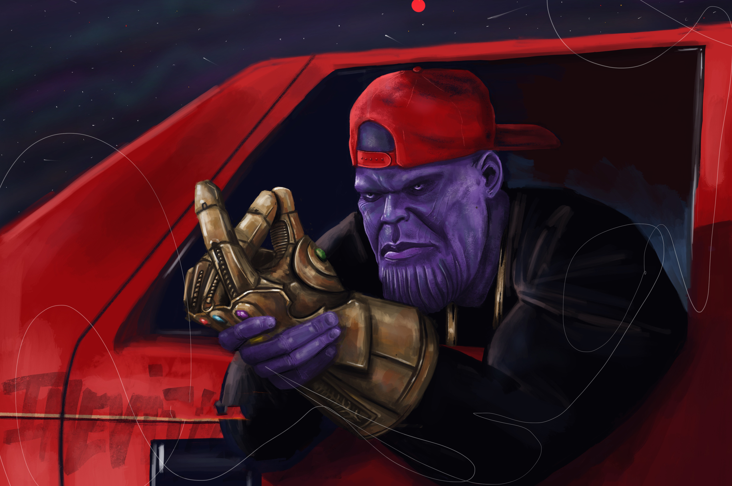 2560x1700 Cool Guy Thanos Chromebook Pixel Hd 4k Wallpapers