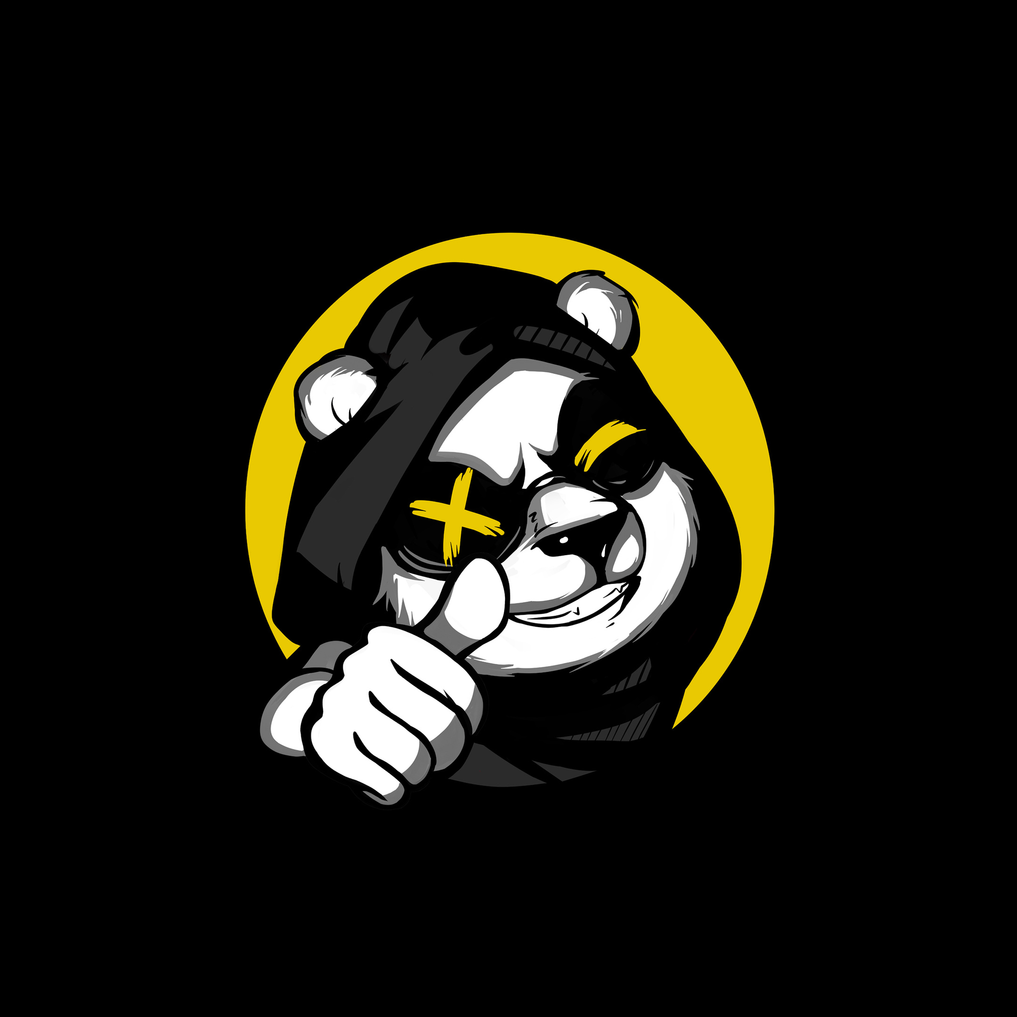 2048x2048 Cool Panda Thumb Up Minimal 4k Ipad Air Hd 4k Wallpapers Images Backgrounds Photos And Pictures