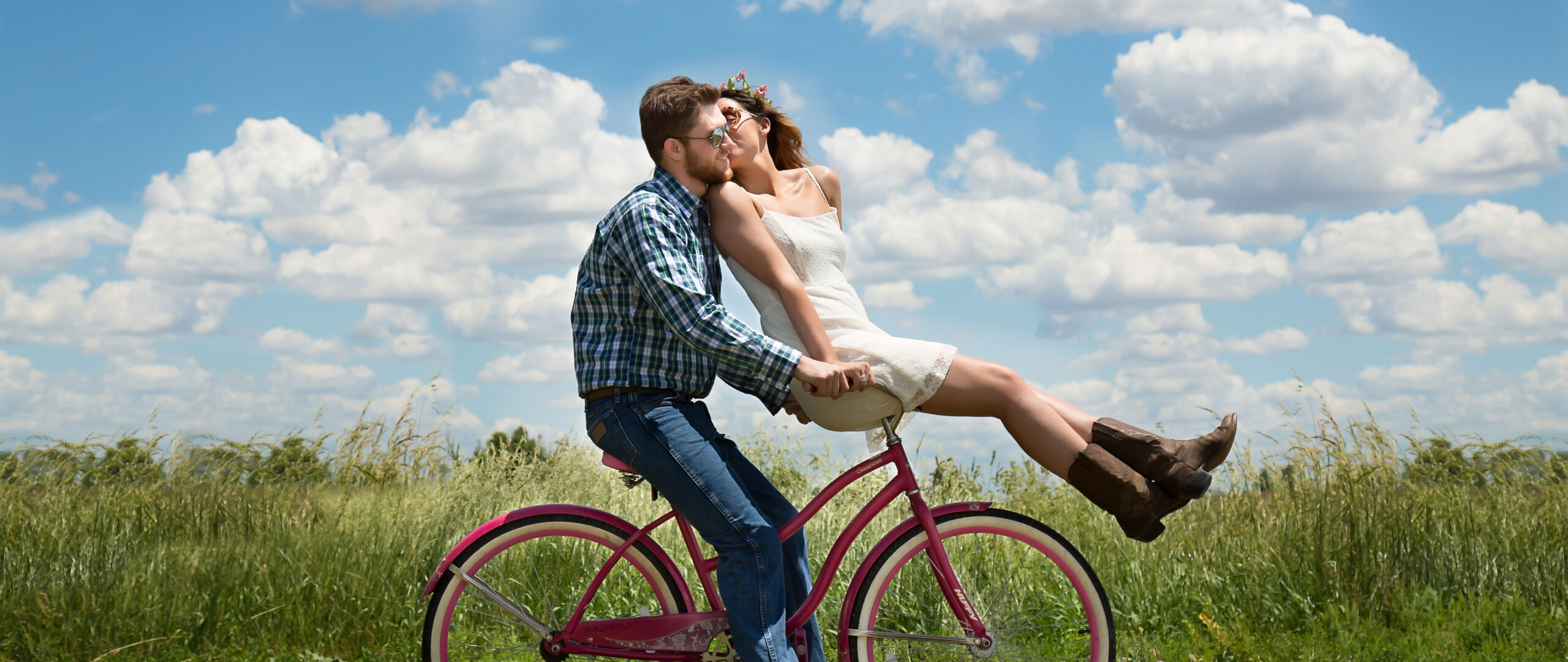 2560x1080 Couple Bike Romantic 2560x1080 Resolution Hd 4k Wallpapers Images Backgrounds Photos And Pictures
