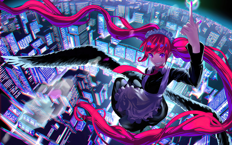2880x1800 Crazy Heights Anime Girl Macbook Pro Retina HD ...