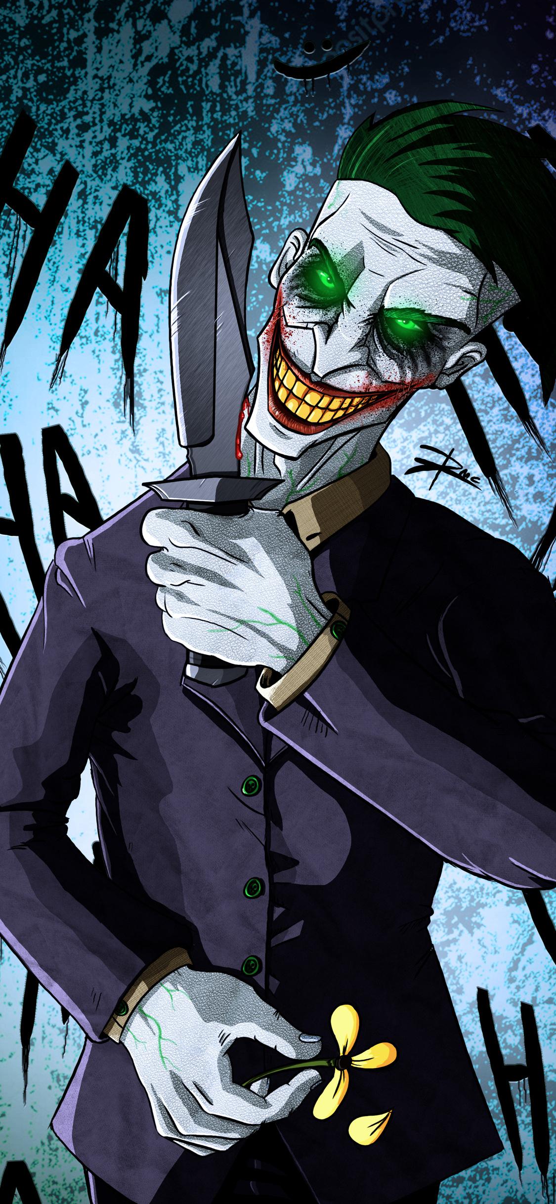 1125x2436 Crazy Joker Art 4k Iphone Xs Iphone 10 Iphone X Hd
