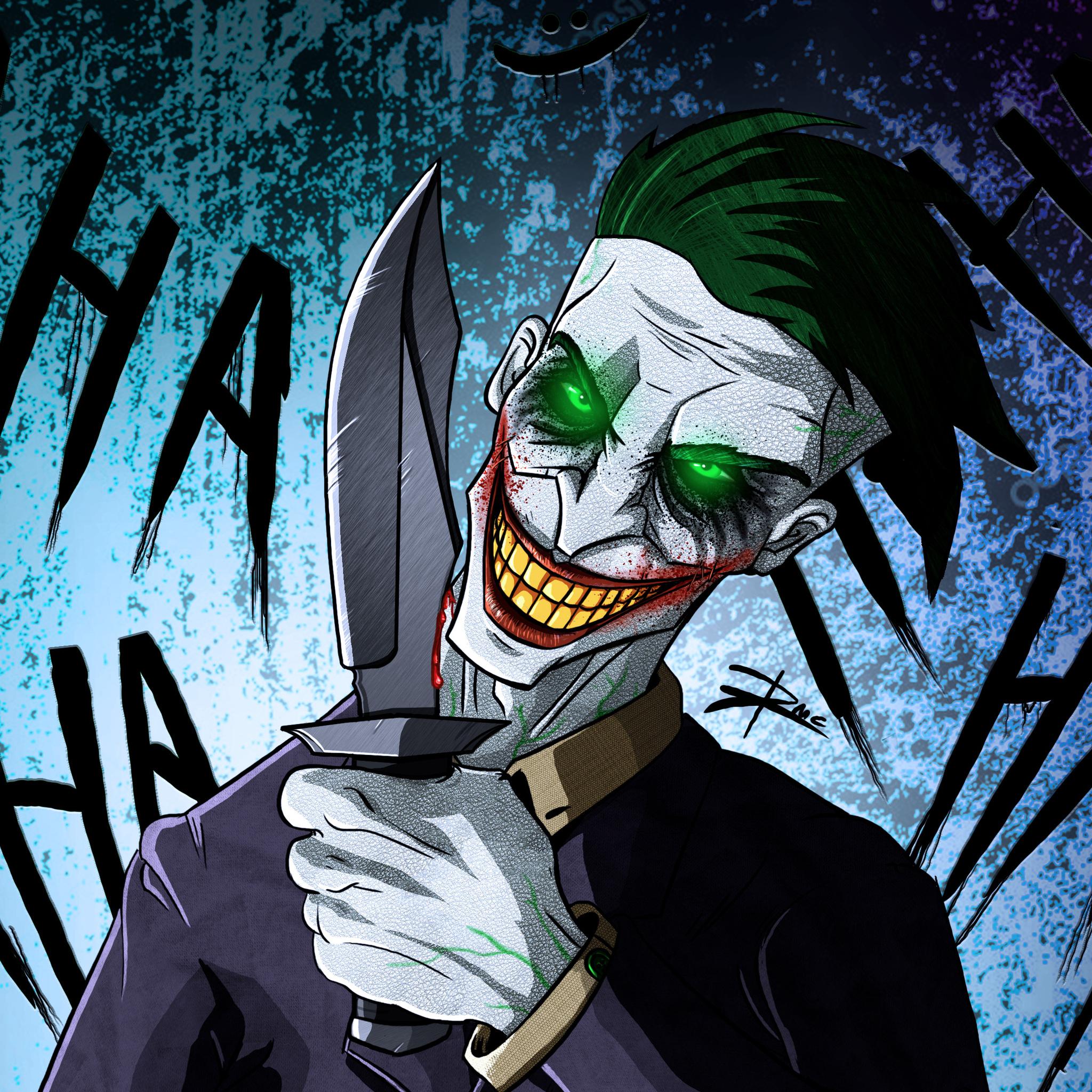 2048x2048 Crazy Joker Art 4k Ipad Air HD 4k Wallpapers ...