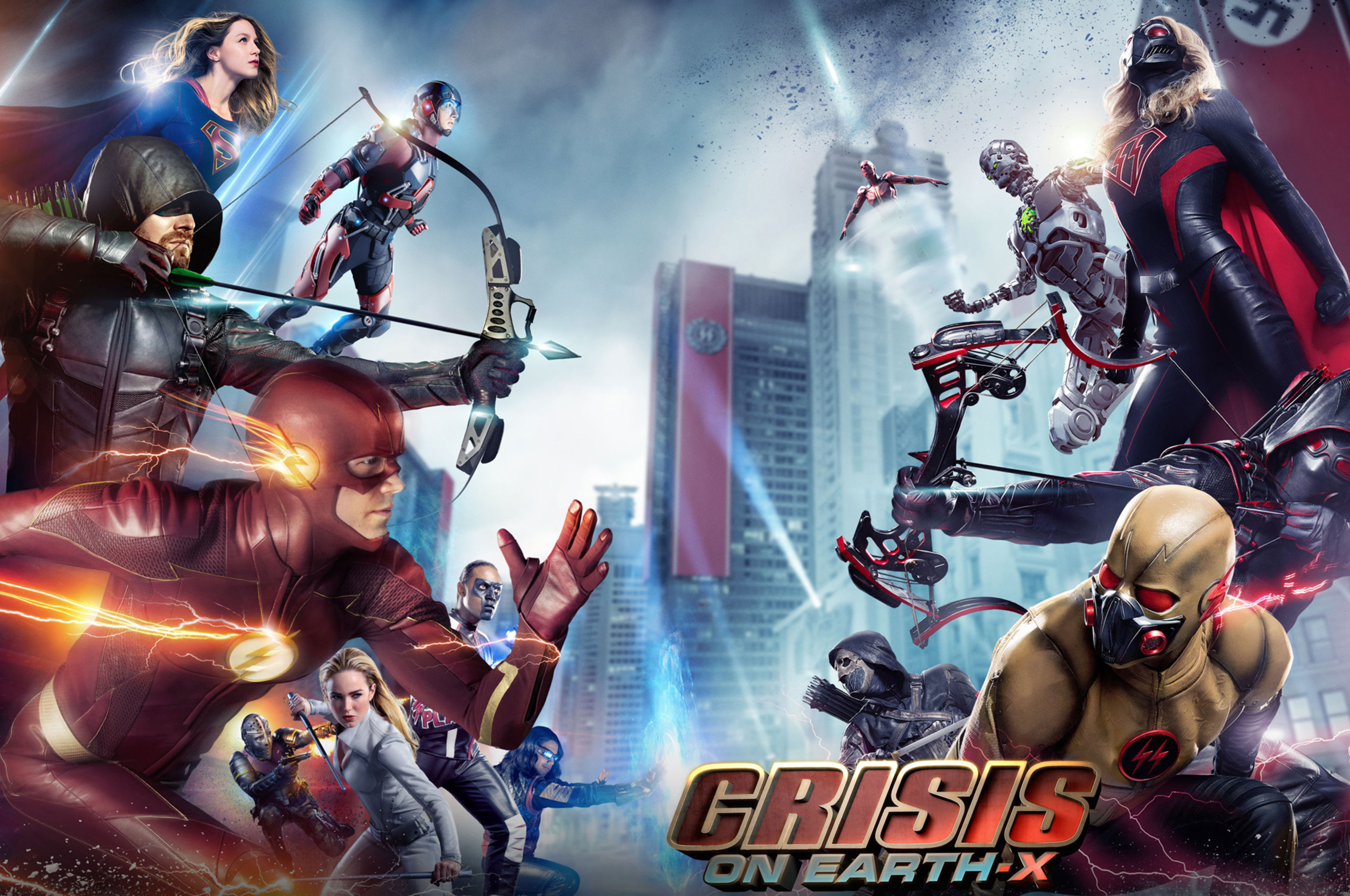 2560x1700 Crisis On Earth X Arrowverse Crossover 2017