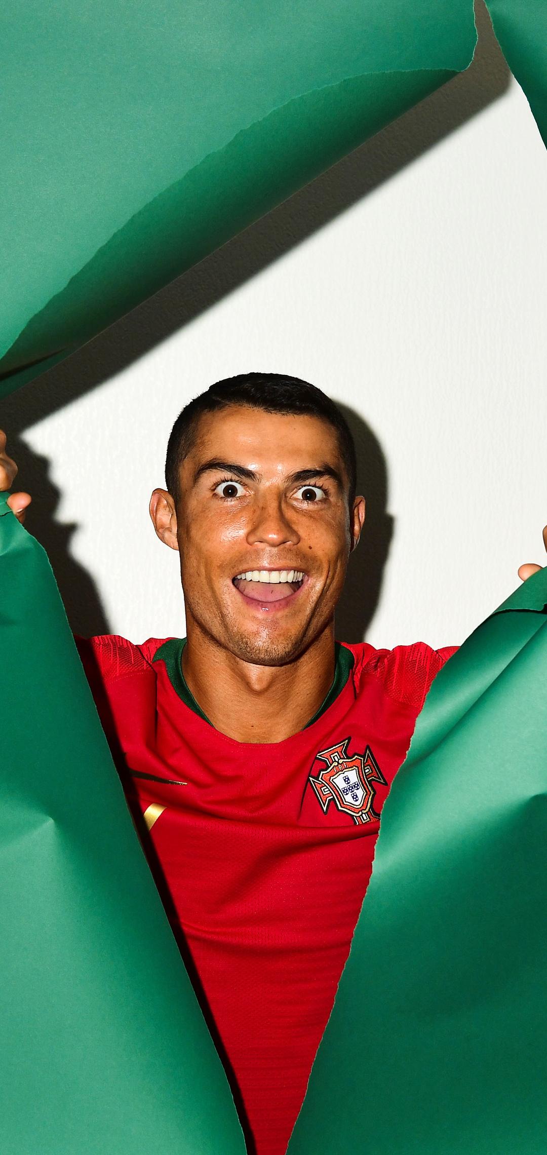 1080x2280 Cristiano Ronaldo Portugal Portrait 2018 One