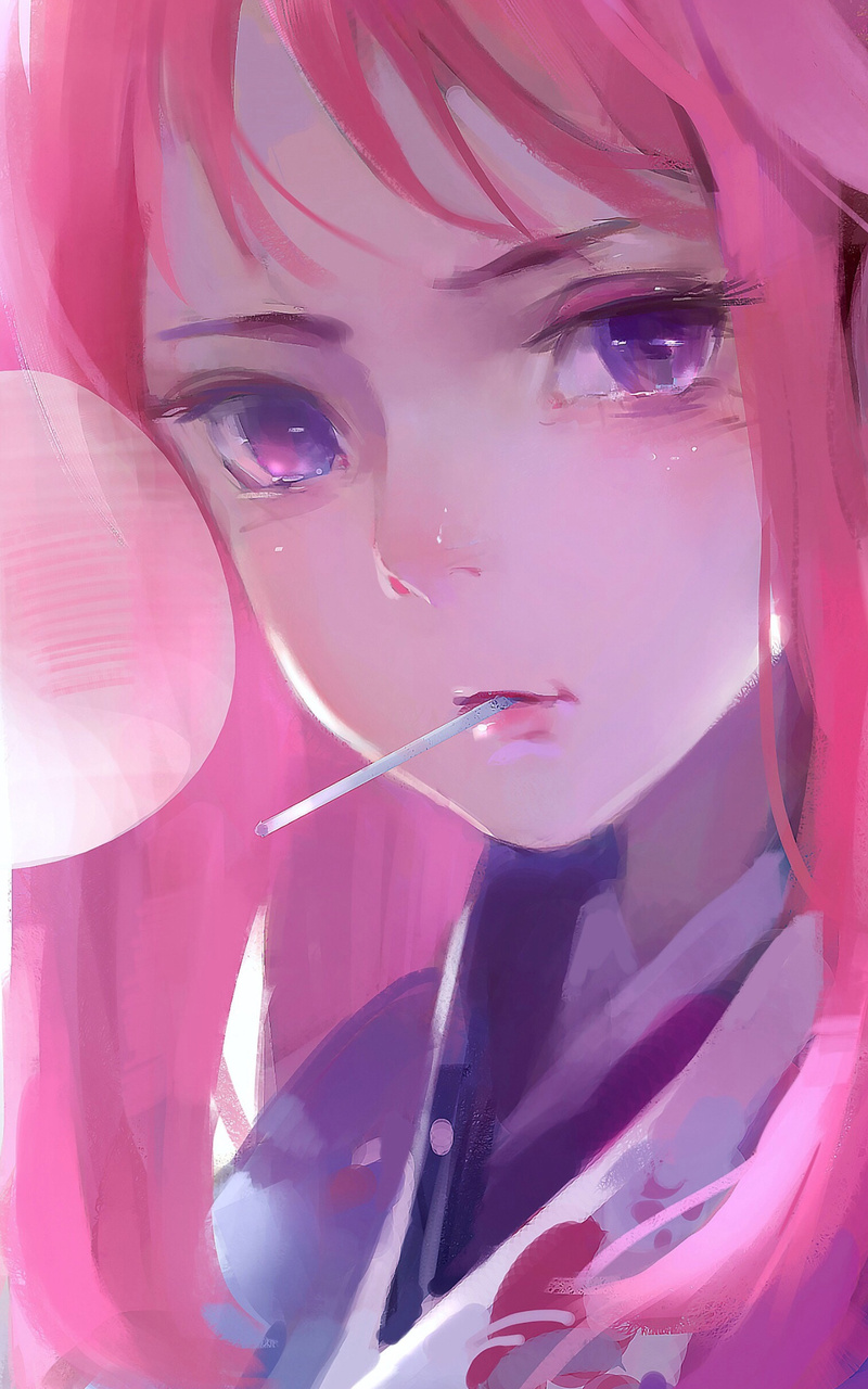 800x1280 Cute Anime Girl Pink Art 4k Nexus 7 Samsung Galaxy Tab 10 Note Android Tablets Hd 4k Wallpapers Images Backgrounds Photos And Pictures
