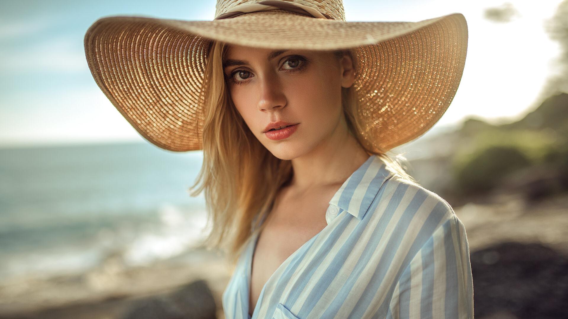 1920x1080 Cute Beautiful Girl With Hat Laptop Full Hd 1080p Hd 4k