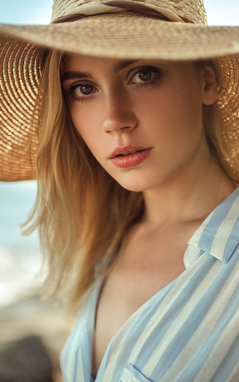 800x1280 Cute Beautiful Girl With Hat Nexus 7 Samsung Galaxy Tab 10 Note Android Tablets Hd 4k Wallpapers Images Backgrounds Photos And Pictures