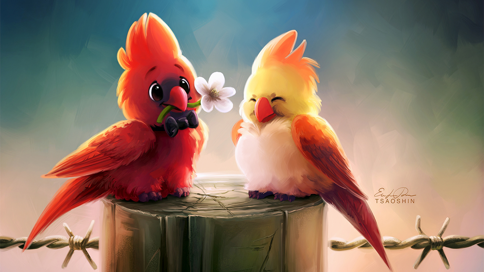 1920x1080 Cute Birds Romance 4k Laptop Full Hd 1080p Hd 4k Wallpapers Images Backgrounds Photos And Pictures