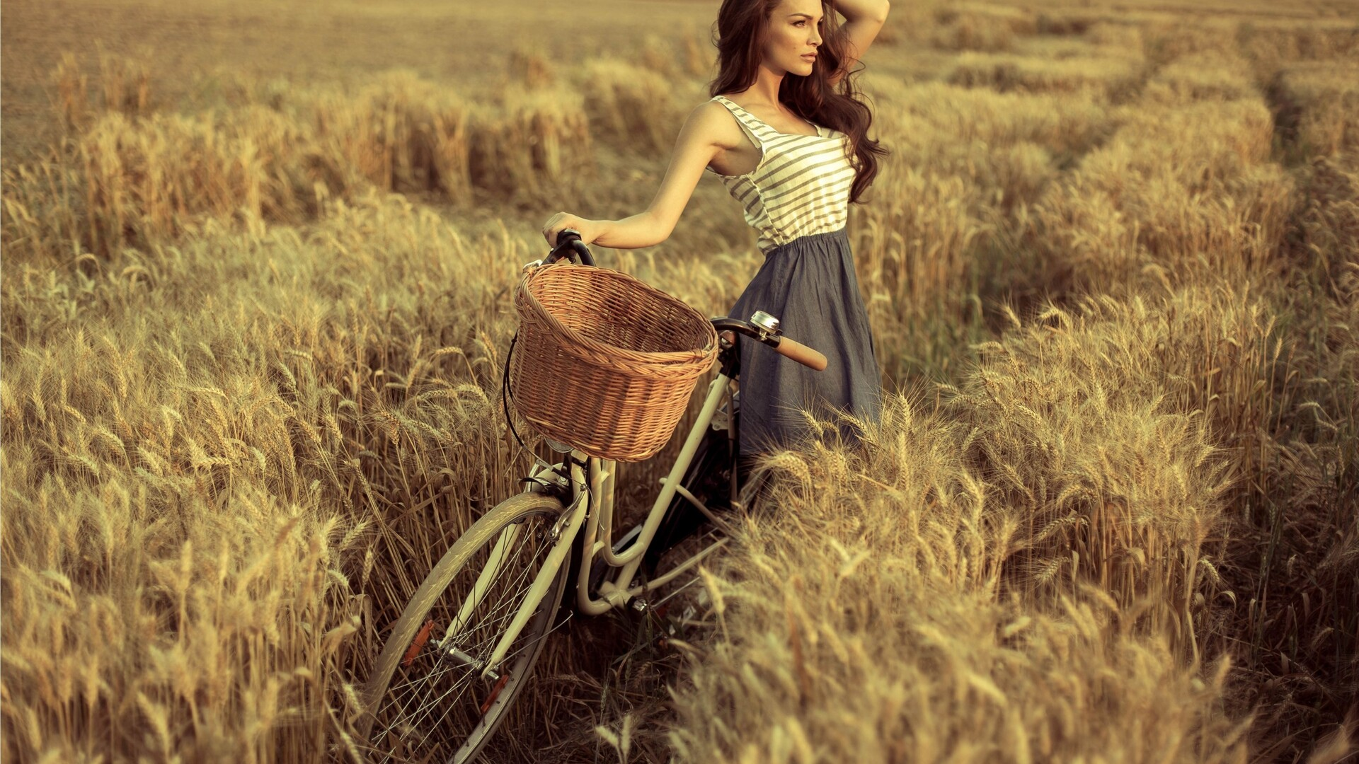 1920x1080 Cute Girl With Cycle Laptop Full HD 1080P HD 4k