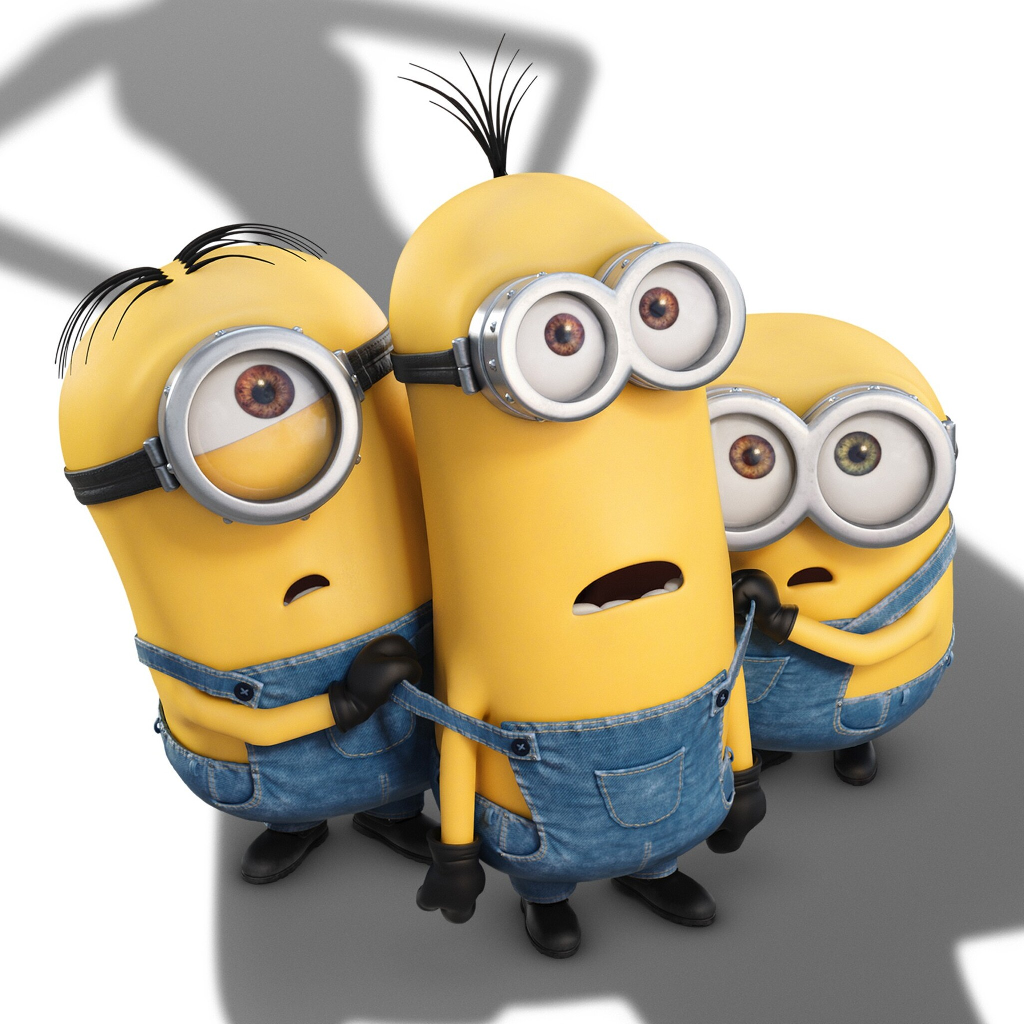 2048x2048 cute minions ipad air hd 4k wallpapers, images