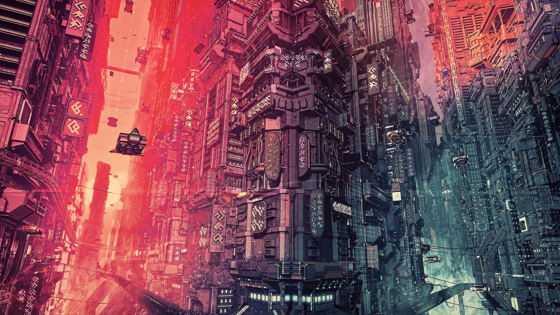 1920x1080 Cyber Futuristic City Fantasy Art 4k Laptop Full ...