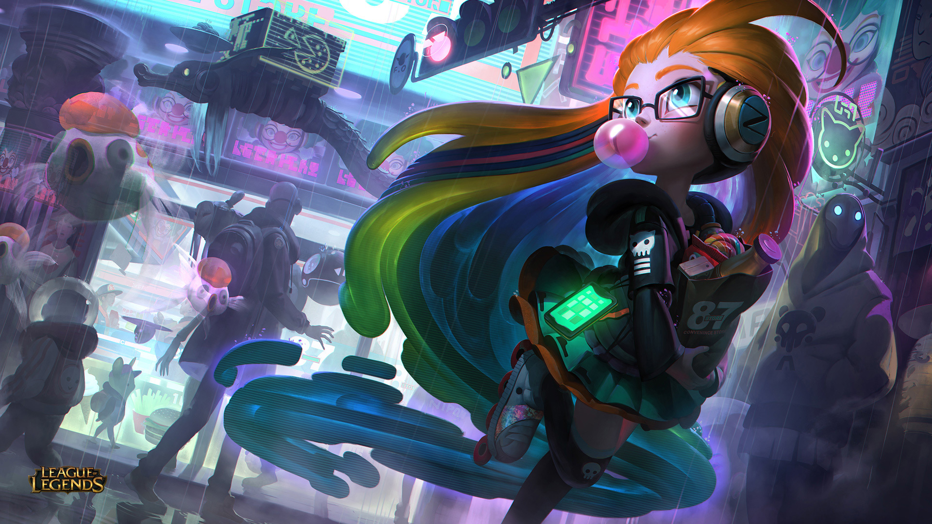 1920x1080 Cyberpop Zoe League Of Legends Laptop Full Hd