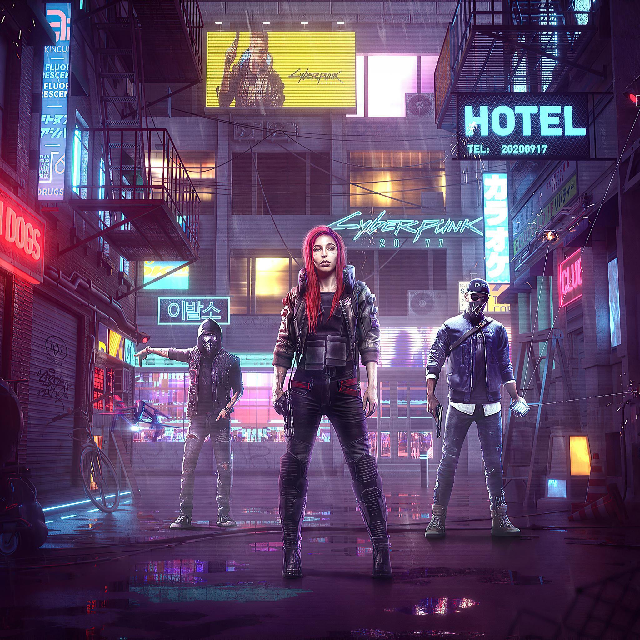 2048x2048 Cyberpunk 2077 4k 2020 Game Ipad Air HD 4k ...