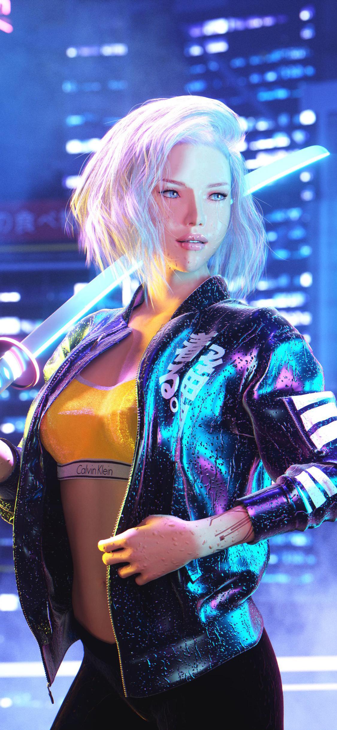 1125x2436 Cyberpunk 2077 Girl 4k 2020 Iphone XS,Iphone 10 ...