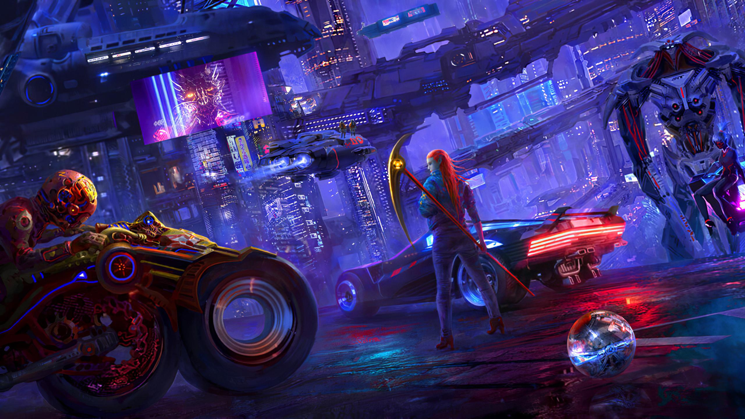 2560x1440 Cyberpunk 2077 Newart 1440P Resolution HD 4k ...
