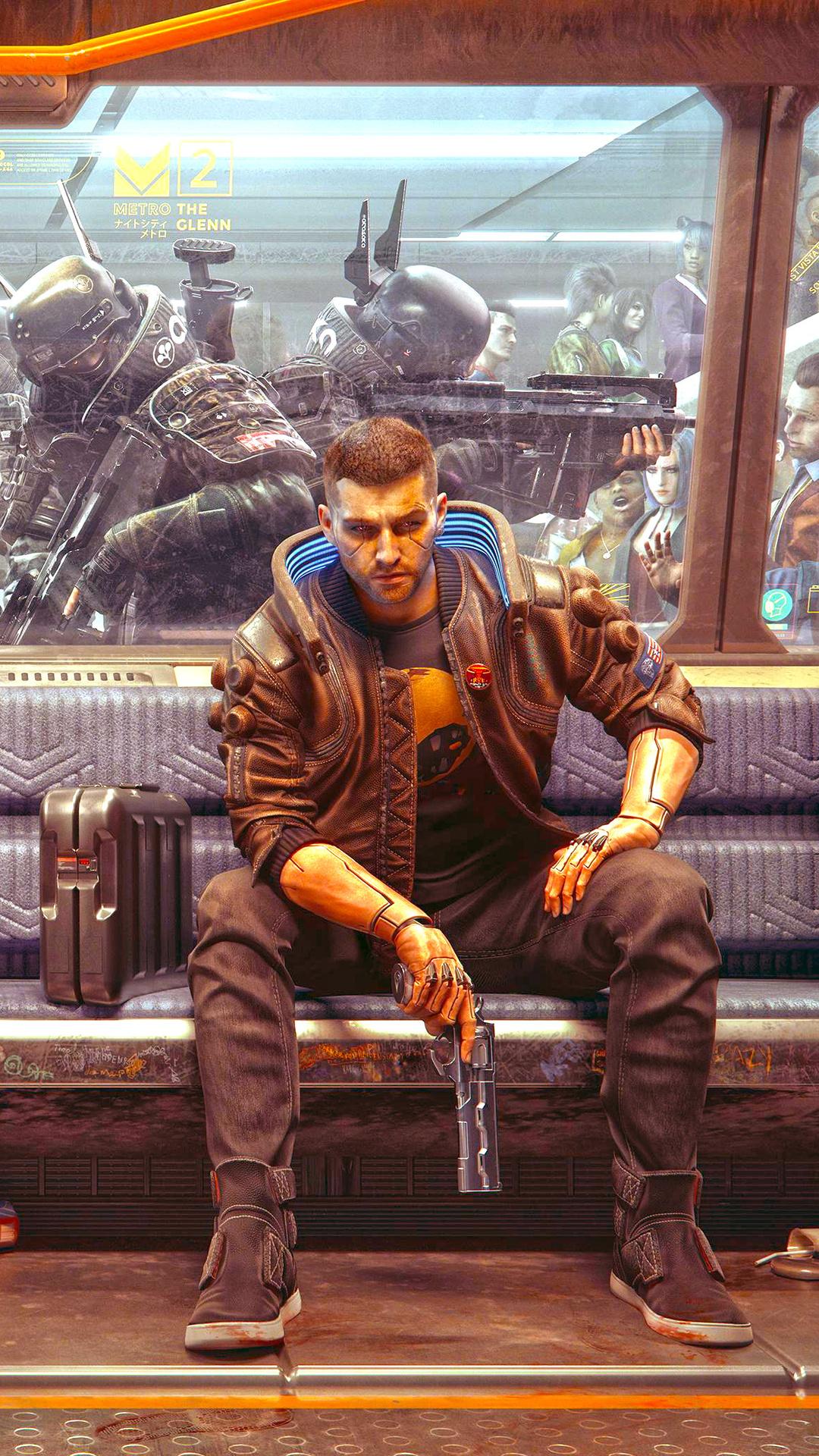 1080x1920 Cyberpunk 2077 Train Station 4k Iphone 7,6s,6 ...