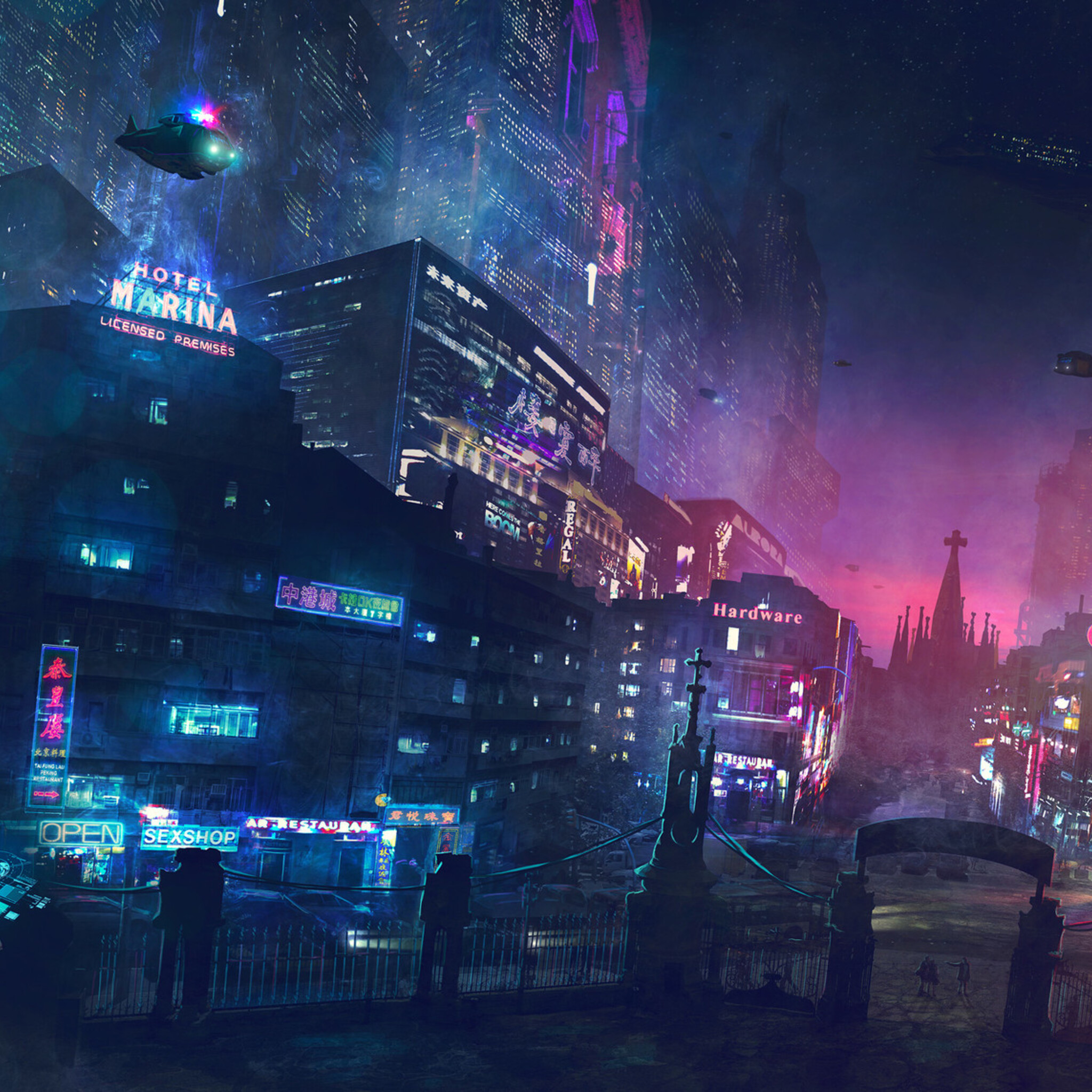 2048x2048 Cyberpunk Artwork Ipad Air HD 4k Wallpapers, Images, Backgrounds, Photos and Pictures