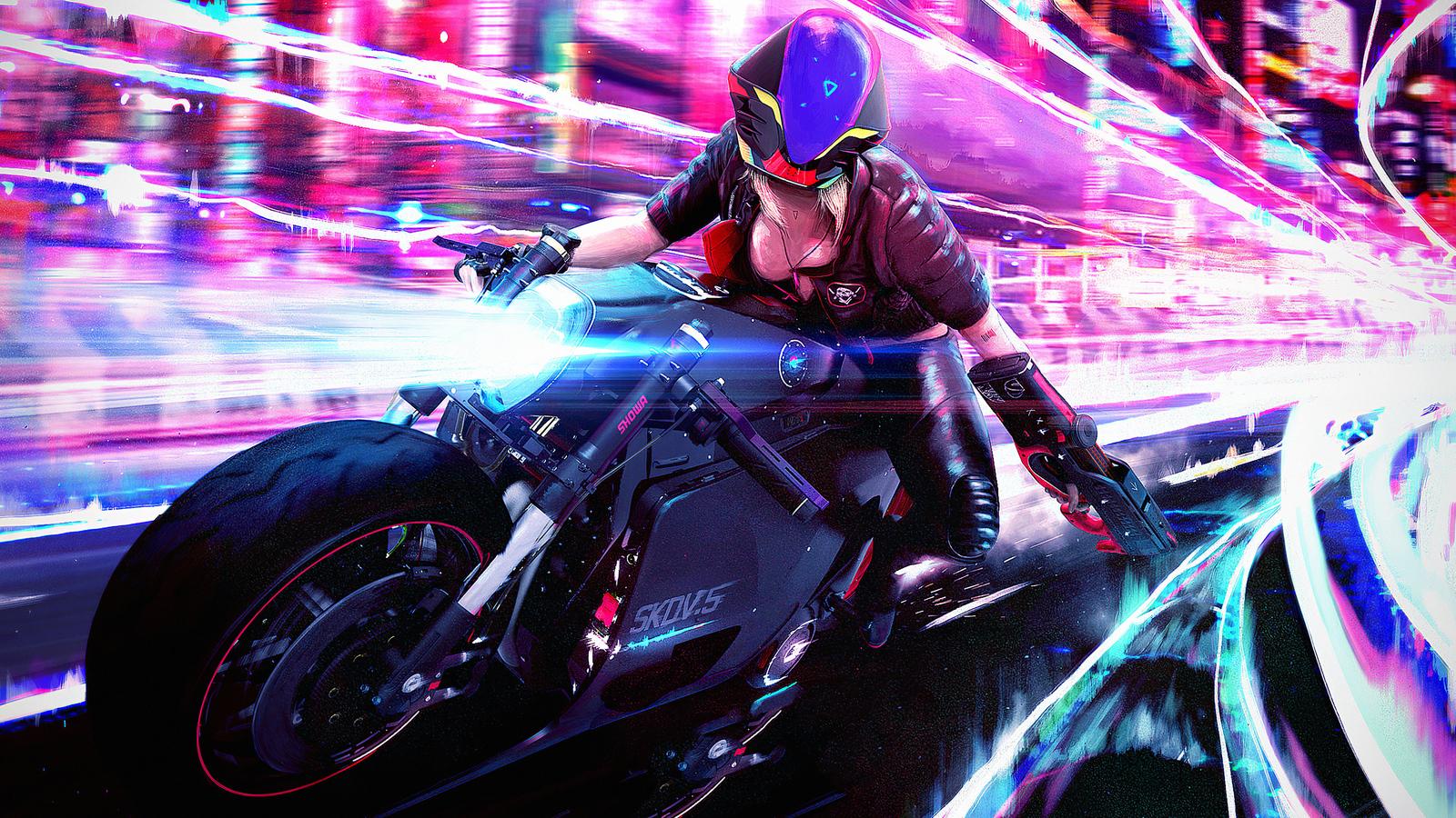 1600x900 Cyberpunk Bike Girl 1600x900 Resolution Hd 4k