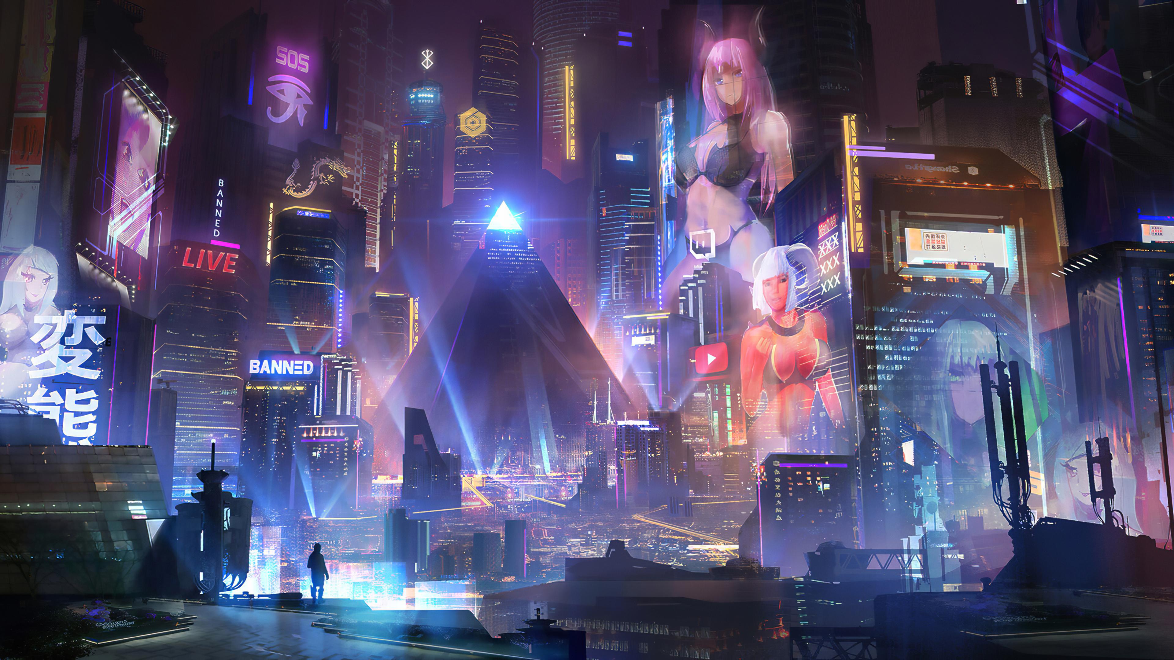 3840x2160 Cyberpunk City 4k 4k HD 4k Wallpapers, Images ...