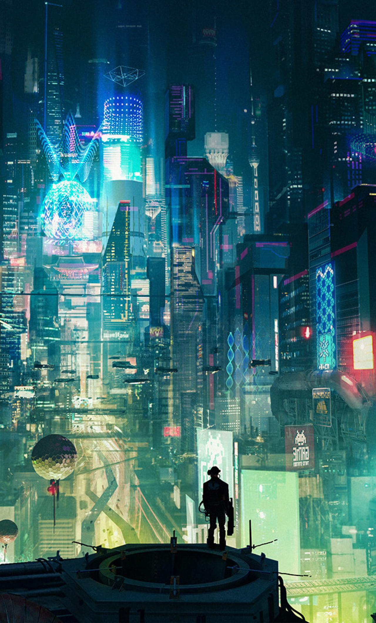 1280x2120 Cyberpunk City iPhone 6+ HD 4k Wallpapers ...