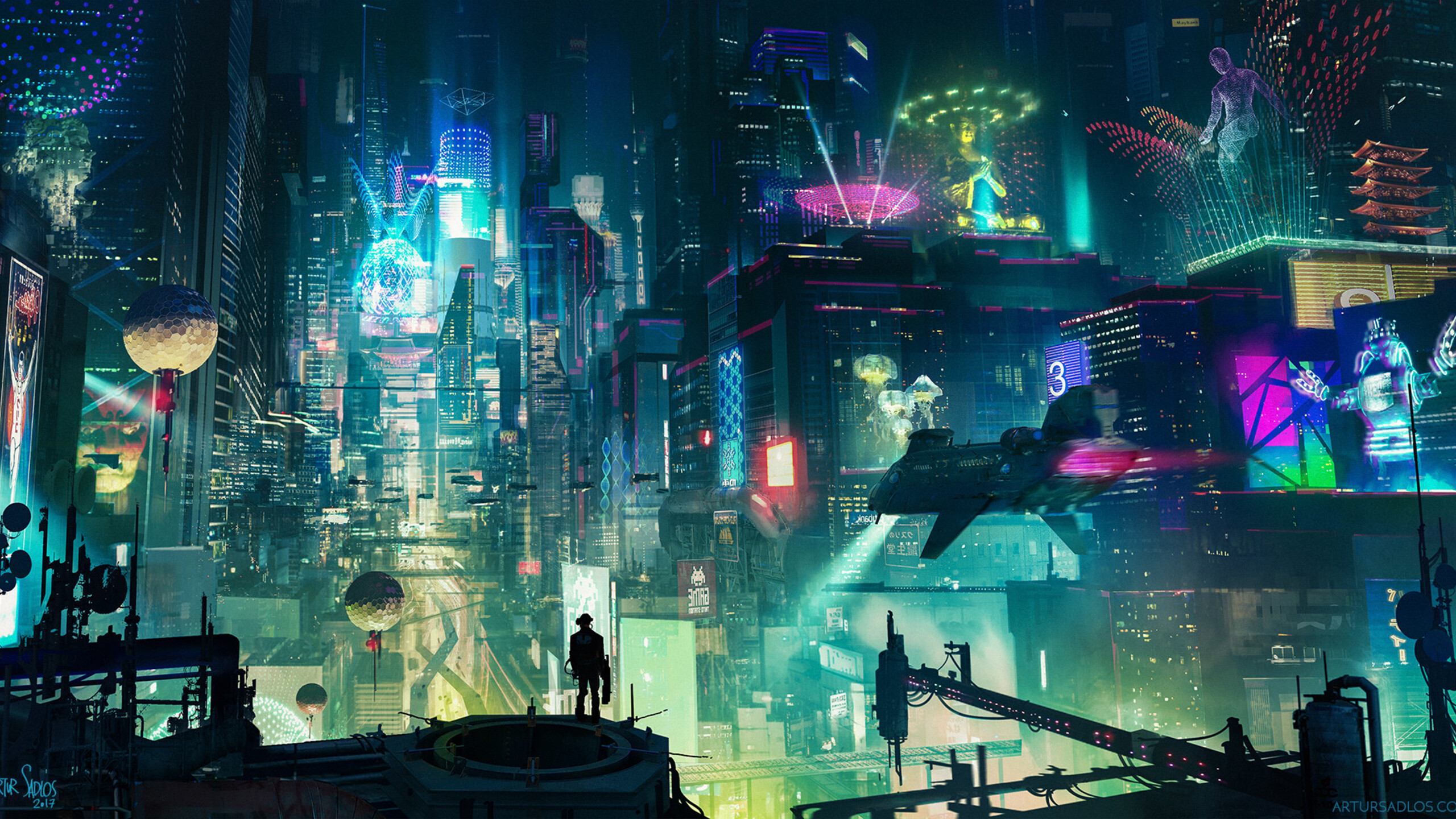 2560x1440 Cyberpunk City 1440p Resolution Hd 4k Wallpapers Images Backgrounds Photos And Pictures