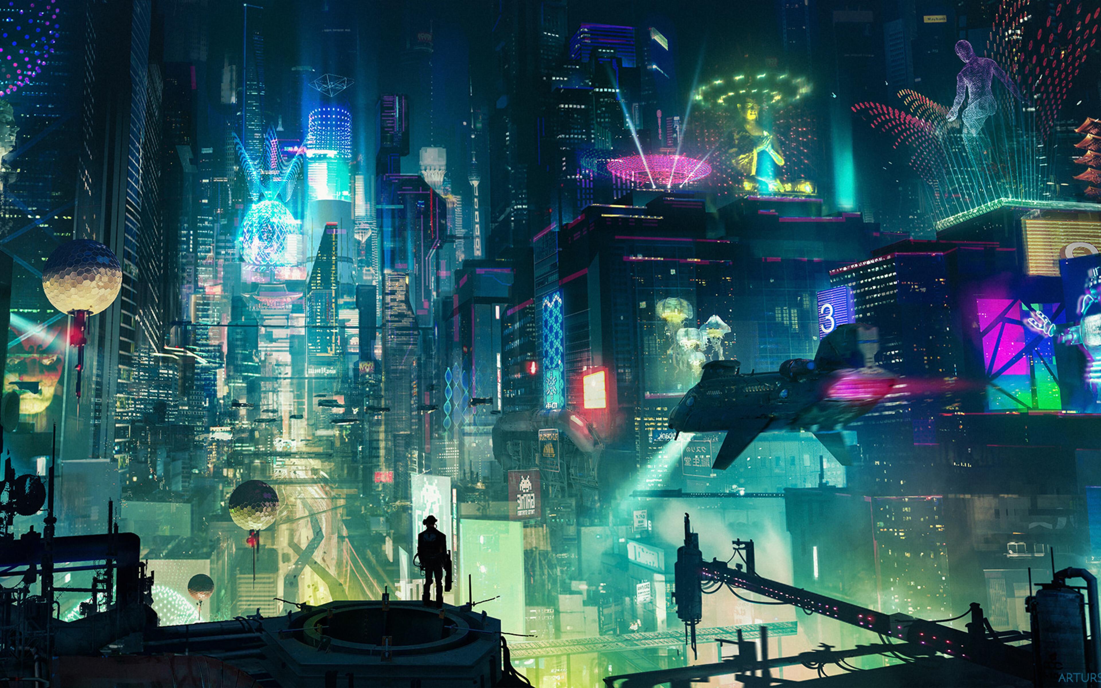 3840x2400 Cyberpunk City 4k HD 4k Wallpapers, Images ...