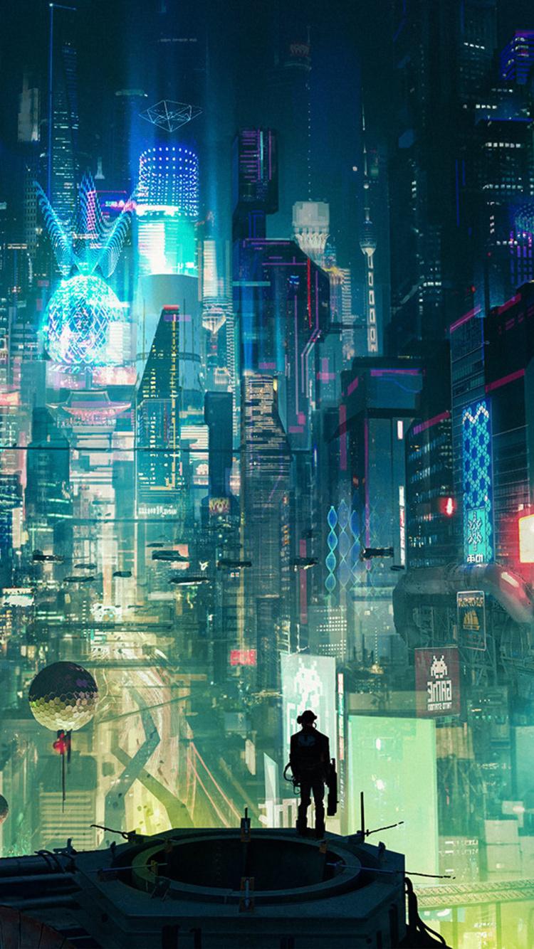 750x1334 Cyberpunk City Iphone 6 Iphone 6s Iphone 7 Hd 4k