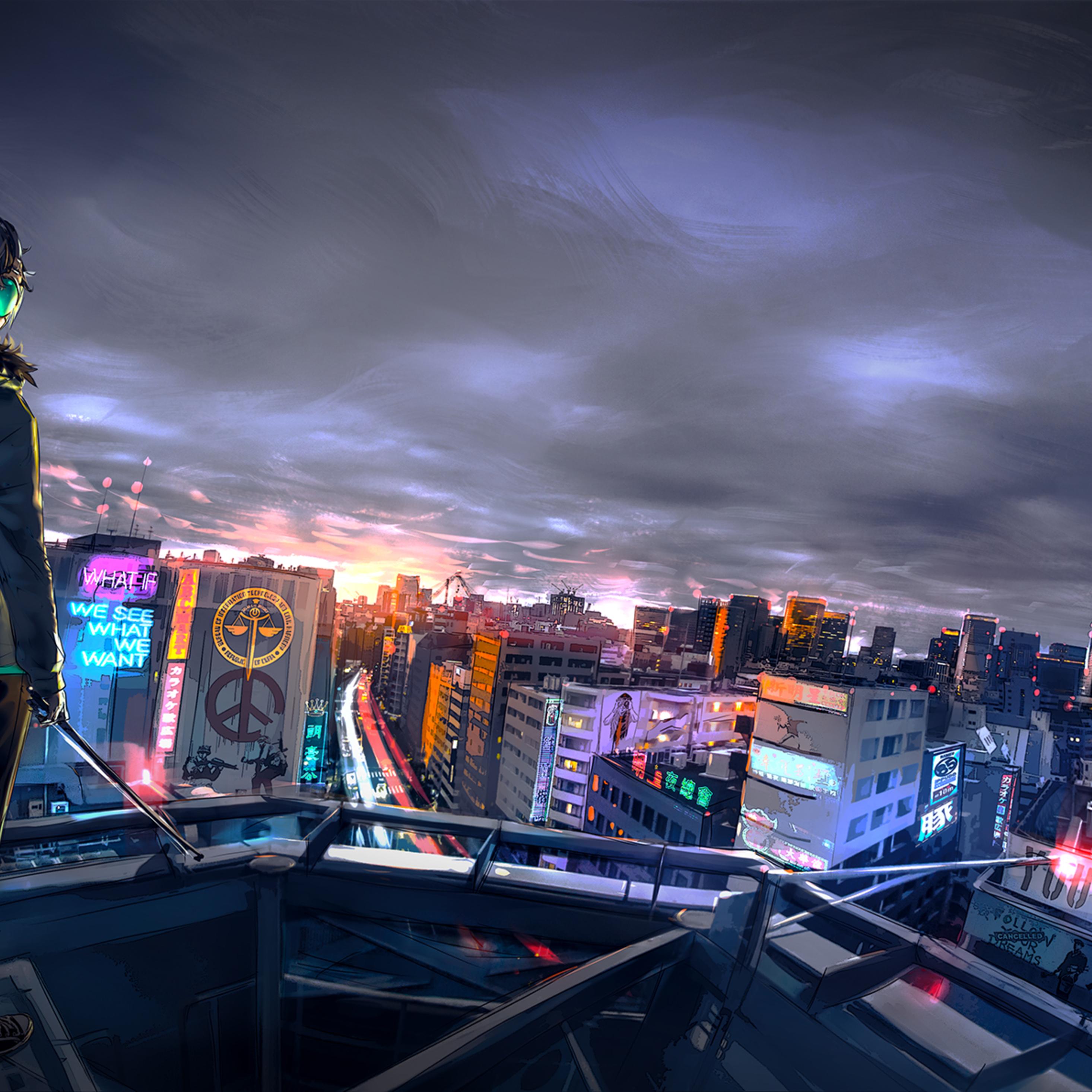 Cityscape Cyberpunk 2077 Wallpaper 4k